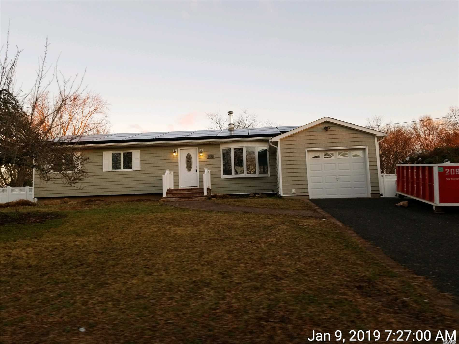 Totally Renovated Ranch Style Home With 4 Bedrooms And 4 Full Bathrooms! Large Kitchen With Vaulted Ceilings Skylights And Hi Hat Lighting, Huge Finished Basement, .44 Acre Level Fenced Lot! This Property Is A Dream!