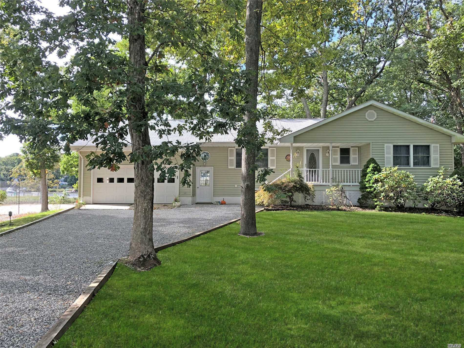Beautiful Ranch On 105' Waterfront On Eugene's Creek With Direct Access To The Bay. Bring Your Boat To The Deep Water Dock. Situated On Shy Acre With Large Deck Overlooking Water. Great House For Entertaining- Boasts 2 Fireplaces, With Walk-Out Lower Level. Minutes To Wineries, Restaurants And Beaches! Come See This North Fork Dream Get-A-Way!