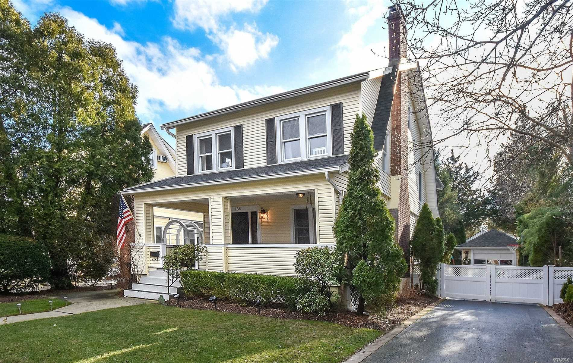 Magnificently Renovated Front Porch Colonial With Every Possible Amenity.Steps To Town And Lirr.