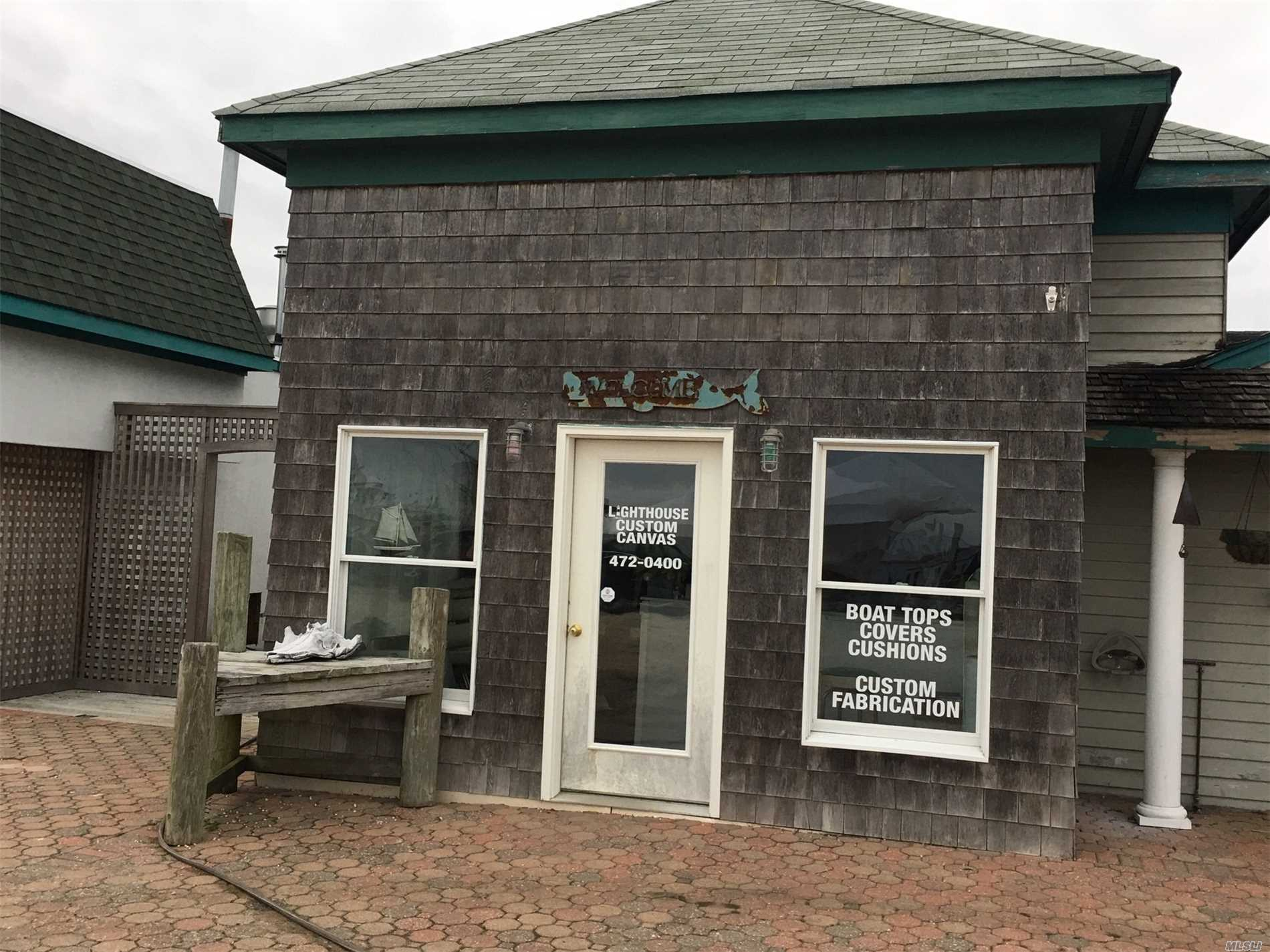 Largest Marina In Area. Shop Ideal For Any Marine Use - Boat Dealer, Marine Equipment Dealer. Unit Is 17'Wide X 28' Deep With A Nice Storefront Directly On The Harbor Front. Beautiful Front Row Seat For The Best Water Views. Other Tenants Include Restaurant, Bait & Tackle, Boat Charter, Fishing Trips, Water Adventures, Mechanics Shop, Slip Rentals.