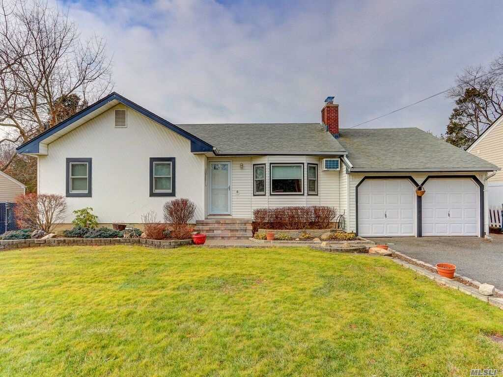 Great Location Half Hollow Schools, All New Windows, Professionally Landscaped Yard With Patio Pavers And Partially Covered Porch- Basement Outside Entrance. Property sold as is.
