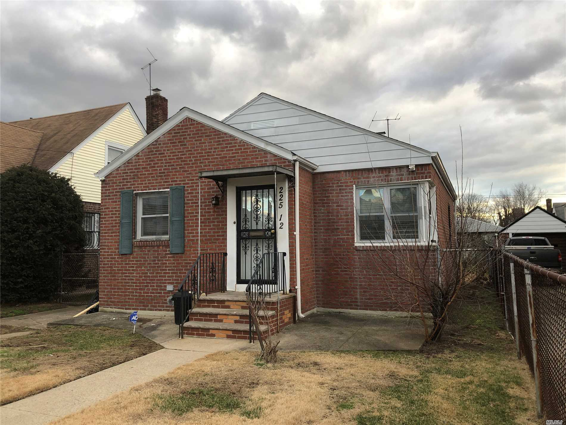 Just Bring Your Things And Move Into This Single Family Ranch Sitting On A 40X100 Lot Nestled On A Beautiful Housed Lined Street In Cambria Heights. Hardwood Flooring In The Bedrooms And The Living Room. Bedrooms With Ample Closet Space, Fully Tiled Bathroom, And Full Basement, Private Driveway And A Garage. Much More! Prime Location, Close To Transportation, Schools, And Highways.