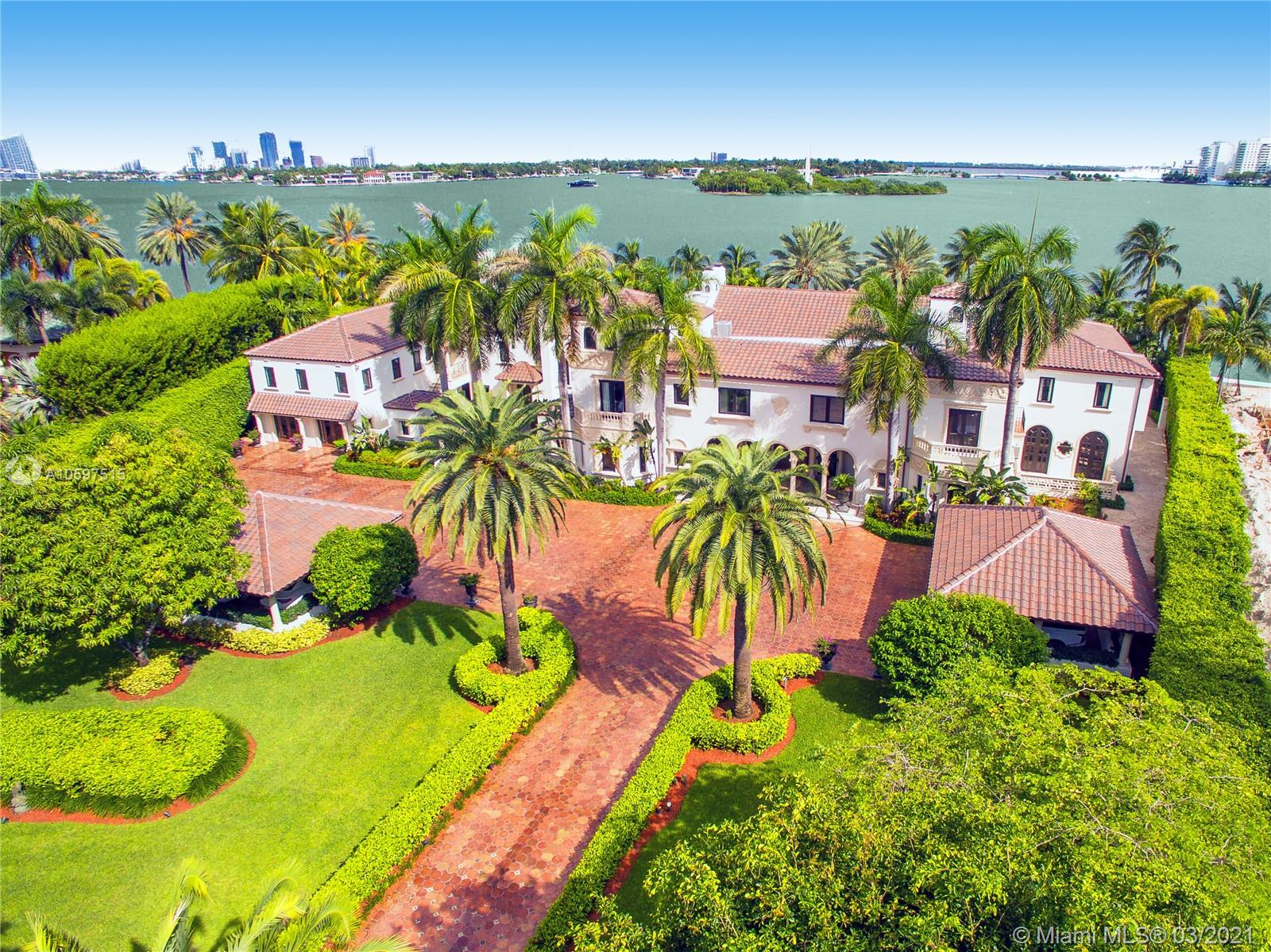 Prestigious Palm Beach Elegance Meets The Hip South Beach Lifestyle In This Extraordinarily Renovated Waterfront Villa With A Modern Touch! The Most Prime Location On Star Island, This Legendary Venetian Villa Built By Carl Fisher In 1924 On A Pie-Shaped Lot Just Under 1.5 Acres & W Breathtaking Open Bay Views. 255 Ft Of Waterfront Ideal For Yachts, Originally Developed As The Yacht Club On The 1St Man-Made Miami Beach Island. Gut Renovated In 2017- Restoring Architectural Details In Formal Entertaining Areas While Blending Fresh & Relaxed Style In Casual Spaces & Ultra Modern Kitchen. Lushly Landscaped Garden & Pool Designed For Intimate & Glamorous Formal Entertaining. 10 Beds + 10.5 Baths Walled & Gated W 20, 000 Sf Of Interior Living Space Perfect For Families To Enjoy Life At The Top!