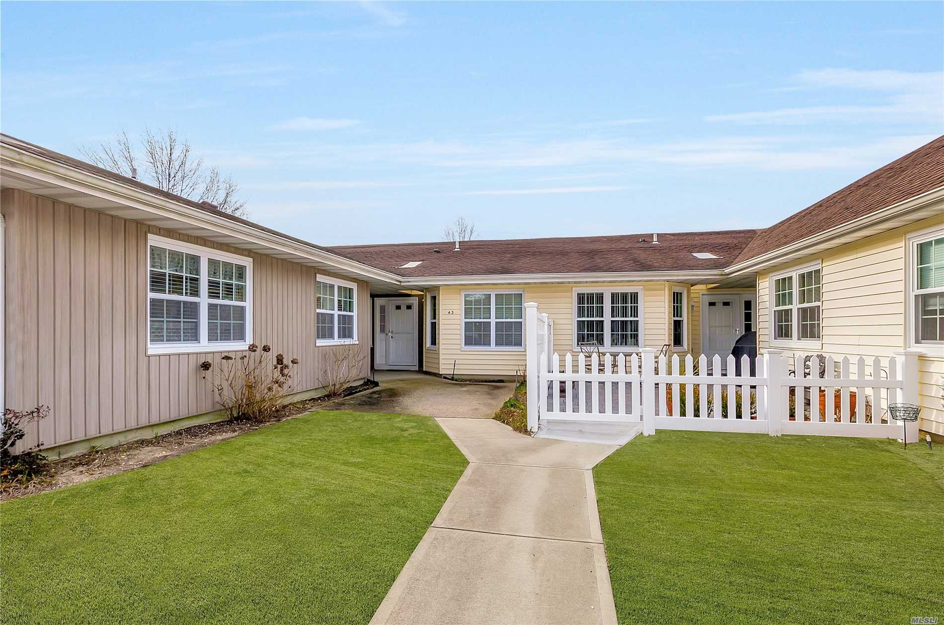 Picturesque 55+ Community W/24 Hour Gated Security. Turn Key Move In Condition. Mrs. Clean Lives Here. Amenities Include Lifeguarded Heated Pool. Bocci Ball, Shuffle Board. Community Center W/Library. Residents Enjoy Convenient Jitney Transportation To Town. Belgium Block Edged Roads. Close To Shopping And Highways. Bring Your Fussiest Buyers.