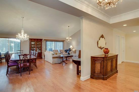 Most Sought After Model In The Most Sought After Gated Community. Manhasset Rail Road, 22 Minutes To City. Estates II. Gated Condo Community Offering, 2 Har Tru Tennis Courts, Club House, Gym, New Gunite Heated Pool. This Corner Unit Home Was Totally Renovated With New Sheet Rock, New Insulation, New Plumbing And Electric. New Eik And Baths.Gas avail. w/permission 2bd Rm 2 1/2 Baths, Den, Dr/Lr., Front And Rear Private Decks. With Master On Main Floor. Belong to Engineers Country Club @ Discounts