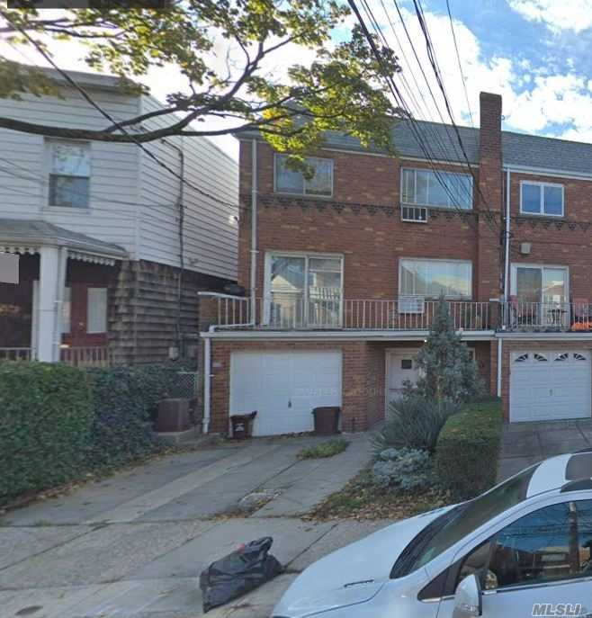 Semi Detached Brick 2 Family With Walk In. 1 Car Gargae, Front Terrace, Private Driveway, Private Yard.