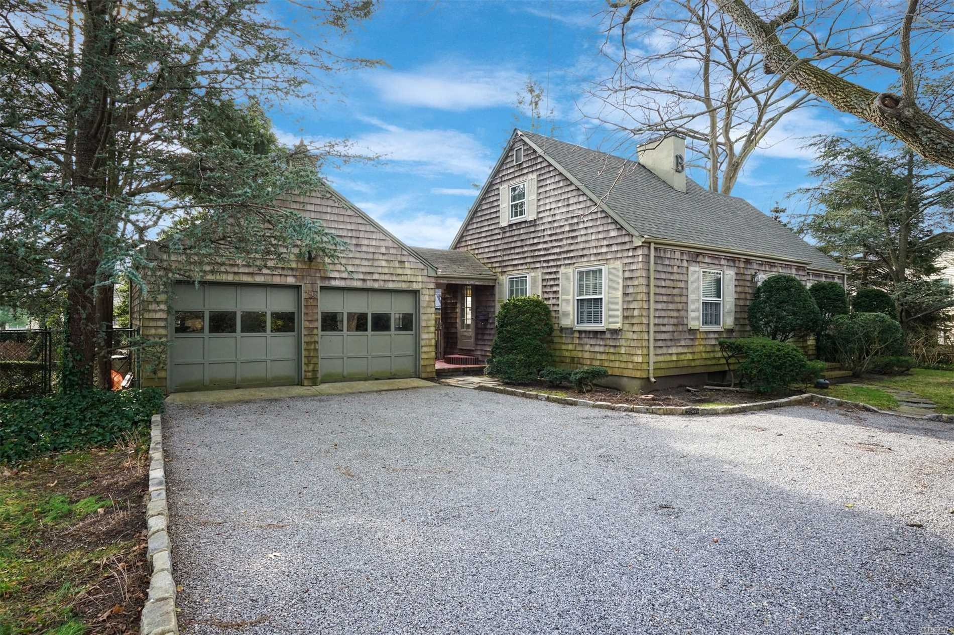 Quaint & Charming Cape, Well Loved Home, Set Back From Road, S. Montauk Hwy,  Breezeway To 2 C Det Garage With Mechanics Pit And Work Bench. Hw Floors Throughout, Mbr/Dbl Closets. Upstairs Bedrms Offer Window Seats With Storage And A Cedar Lined Closet. Half Bath (Poss Full Bath) Private Yard With Slate Patio Area. Near Shopping, Easy Access To Hwys.