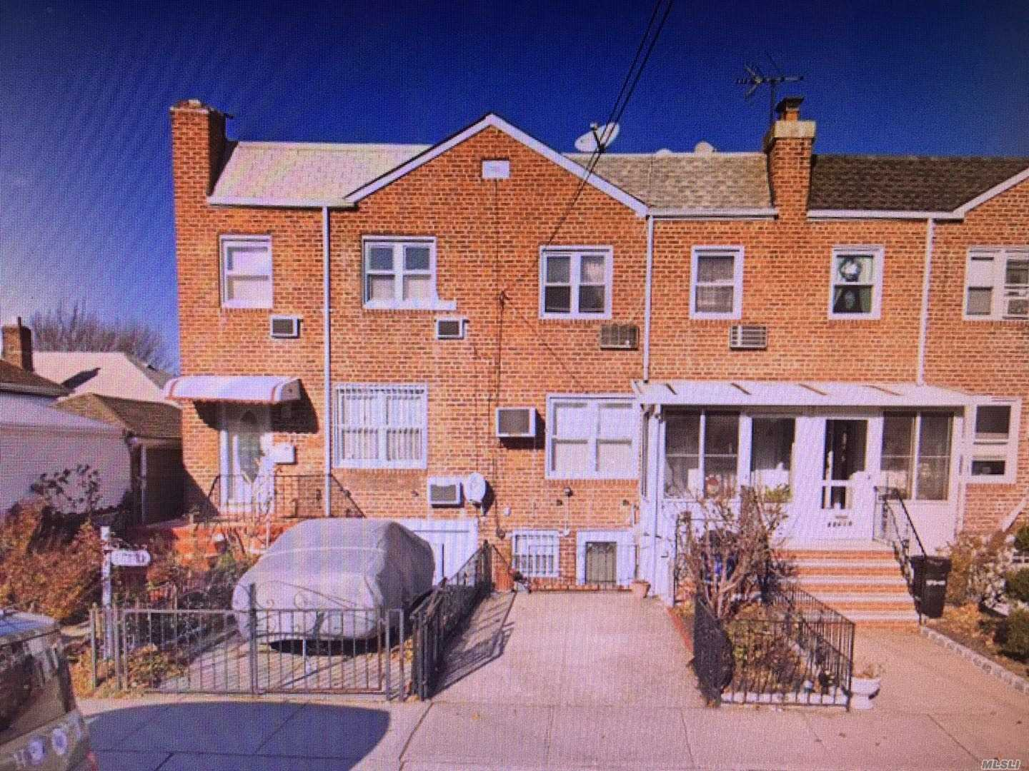 Nice And Bright One Family Brick Corner House With Full Finished Basement, One Car Garage, Private Yard And Much More.Close To Schools, Transportation, Utopia Park And Shopping.