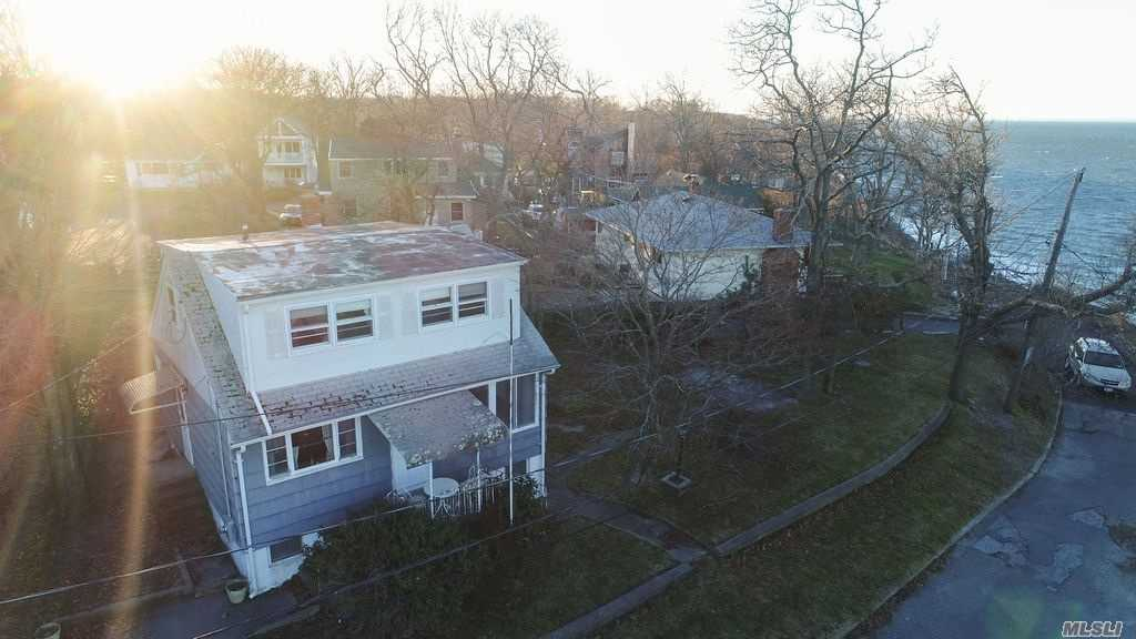 Unobstructed Water-Views On A Dead End Street, What More Could You Ask For? Endless Possibilities With This 3 Bedroom Cape. Large Bedroom On The First Floor With Full Bath. Upstairs Features A Large Sitting Area, Two Bedrooms And A Full Bath. Full Basement. Home Needs Some Tlc But Has A Truly Remarkable Unobstructed View Of The Long Island Sound And Is Priced To Sell Quick. Make This Your Forever Home. Join The North Shore Beach Property Owners Association For Fun Filled Summers.
