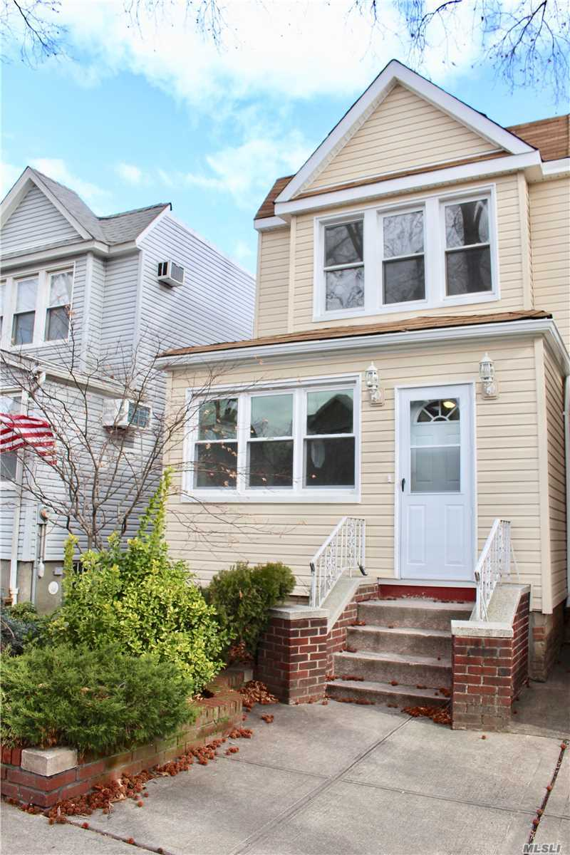 True Turn Key!!! Completely Renovated Fabulous 1 Family Home, 6 Rooms, 3 Bedrooms, 2 Full Baths, New S/S Appliances, New Granite Counters, New Hardwood Floors, New Carpeting, Full Finished Basement, 1 Car Garage, Driveway, Private Yard!