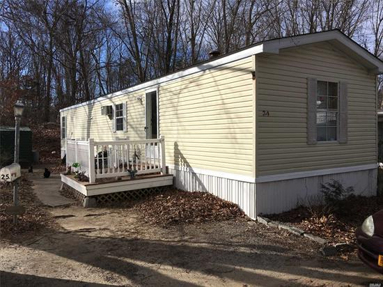 Large 2 Bedrm, 1 Bath, Eat In Kitchen, Living Rm, Shed, Deck, Patio. 5 Yr Old Roof. Located On A Cul De Sac Road. This Home Is Close To Shopping, Public Transportation, Beaches, Golf, And Near All The North Fork Has To Offer!
