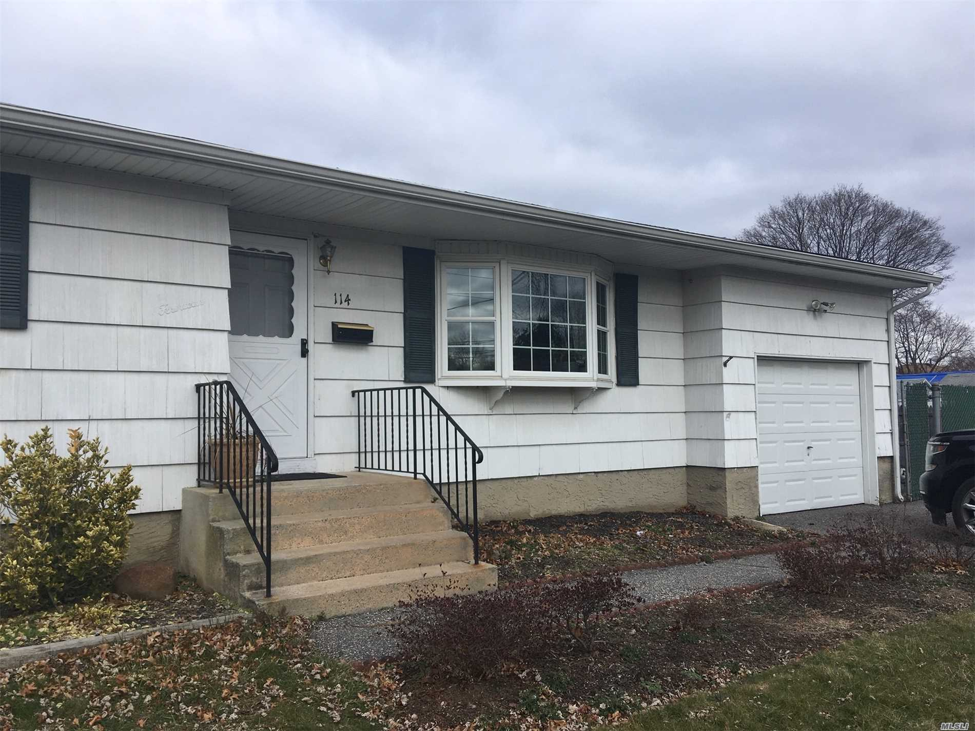 Beautiful Wide Ranch Large Rooms, Country Sized Kitchen 2 Baths, Washer/Dryer, Spacious Fenced Yard Sundeck, Small Pet Considered, Finished Basement Spacious Living. Attached Garage 4 Car Off Street Parking. A Must See. 2/15/2019 Occupancy