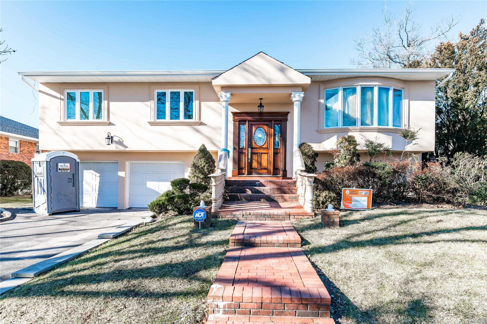Extraordinary Beautifully Renovated Hi Ranch Nestled In North Woodmere. Fully Equipped Rare Beauty Of Excellence & Perfection. Magnificence Designed State Of The Art Kitchen With Stainless Steel Appliances. Top Of The Line Doors & Windows. Central Vacuum. Navien Condensing Tankless Water Heaters & Boilers. Central A/C With High Efficient Energy Save. Stunning Specious Backyard