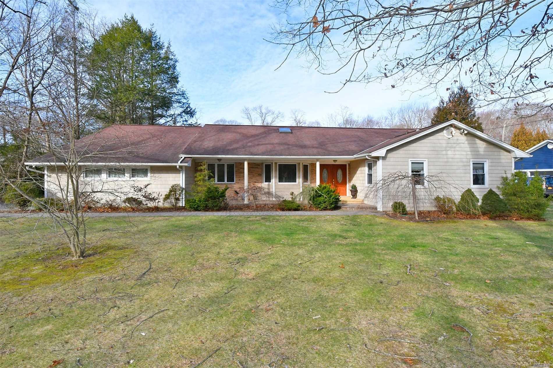Low Low Taxes And Parklike Flat Acre! With Igp In Mid Block Location !!! Updated 4 Br. 3.5 Fbth Ranch Set On Flat Acre W/Igp. Updated Kitchen W/ Wood Cabinetry And Granite Counters. Updated Baths,  Boiler Updated Approx 3 Yrs,  A Must See! Won't Last!