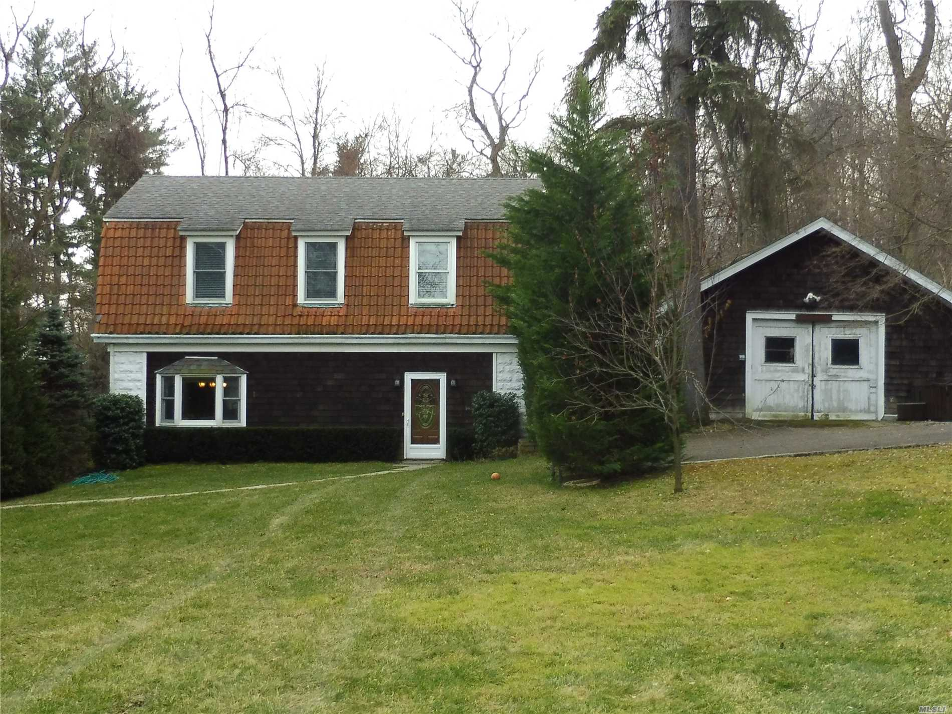 Secluded Location. Long Driveway With Indirect Winter Water Views Leads To Newly Renovated 3 Bedroom 1.5 Bath Colonial On One Acre Of Property. Being Rented For $3, 800 Unfurnished, Or $4, 200 Furnished.