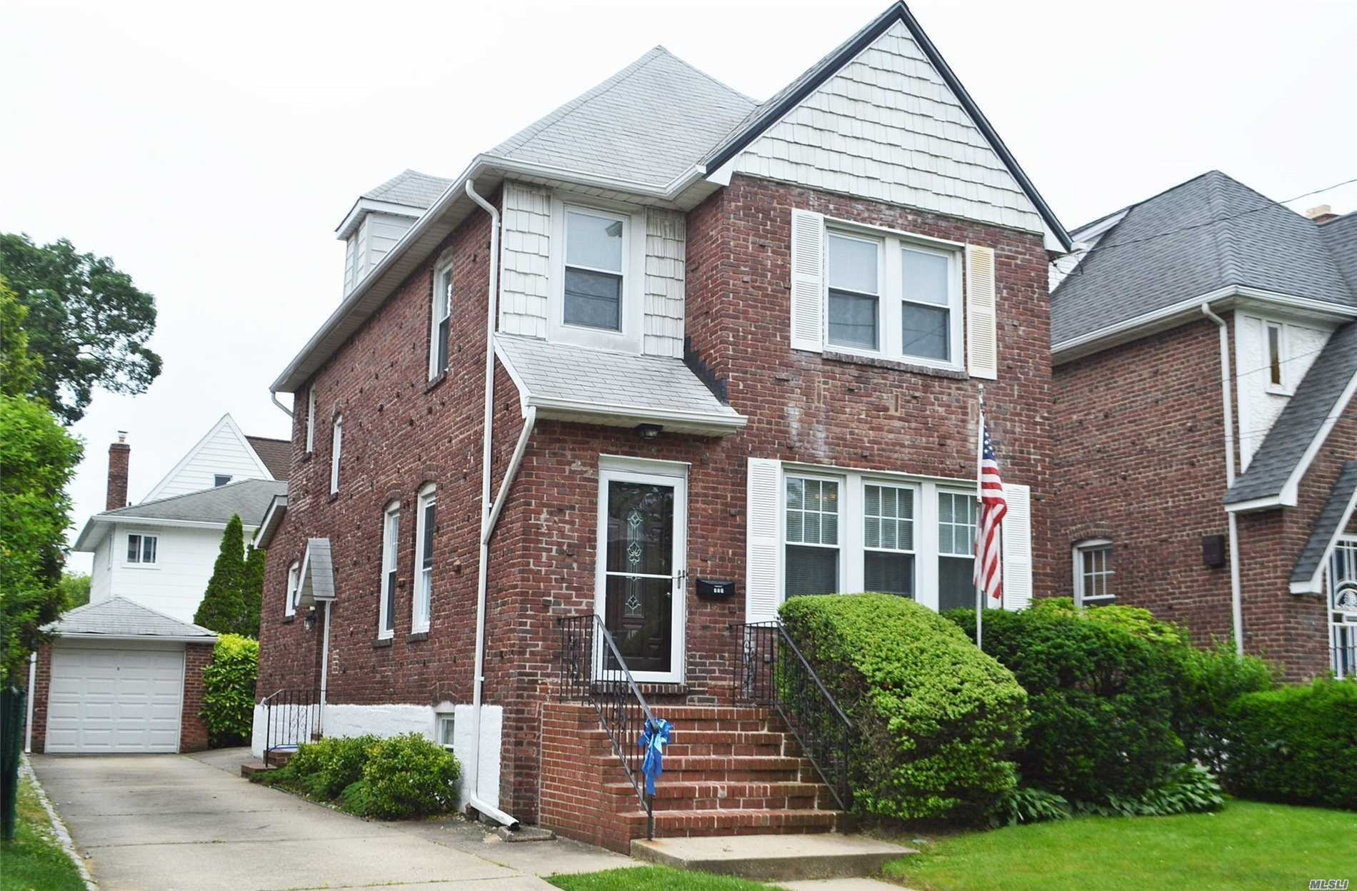 Majestic Brick Tudor In The Yorkshire Section Of Lynbrook, Ready To Move Into, But At A Price To Mold Into Your Dream Home, Spacious Set-Up Includes: Entry Foyer, Living Rm W/Fireplace, Fdr, Eik, Half Bath, 3 Bedrm, Updated Full Bath, Full Basement, Attic.