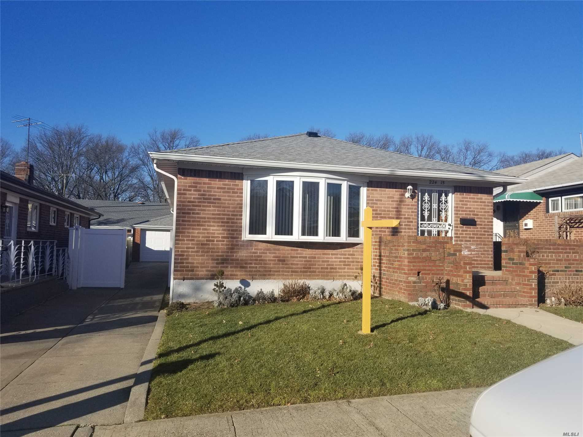Great Neighborhood In Oakland Gardens, South Faced Whole Brick Ranch House On A 41X100 Lot, Middle Of The Block, Nice Hardwood Floor, Master Bathroom Is Under Whole Renovation, Detached Garage, Nice Backyard, Cac & Central Heating, Unfinished Basement, You Can Make Great Space For Family Whatever You Want To, Separate Entrance To Basement, Near To Alley Pond Park Can Bbq, Jogging, Walk Dog, Best School Dist. #26, P.S.#188, Qm Bus#6, Q27 To Flushing Main St, Near To Shopping, This Is A Must See!