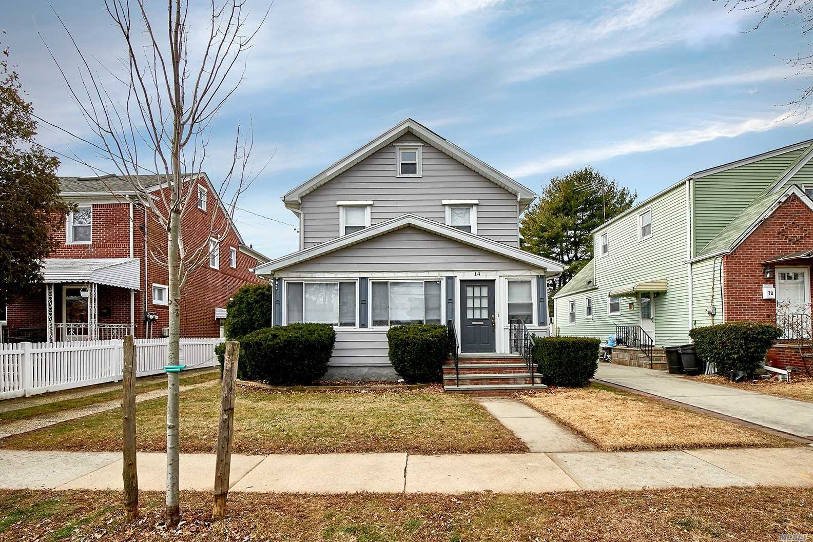 Colonial Located In Desirable Floral Park Sd #22 Boasts Enclosed Front Porch, Large Living Room With High Ceilings, Fdr, Eik With Pantry, 2 Full Baths, 3 Bedrooms, Attic, Full Basement With Ose & Detached Garage.