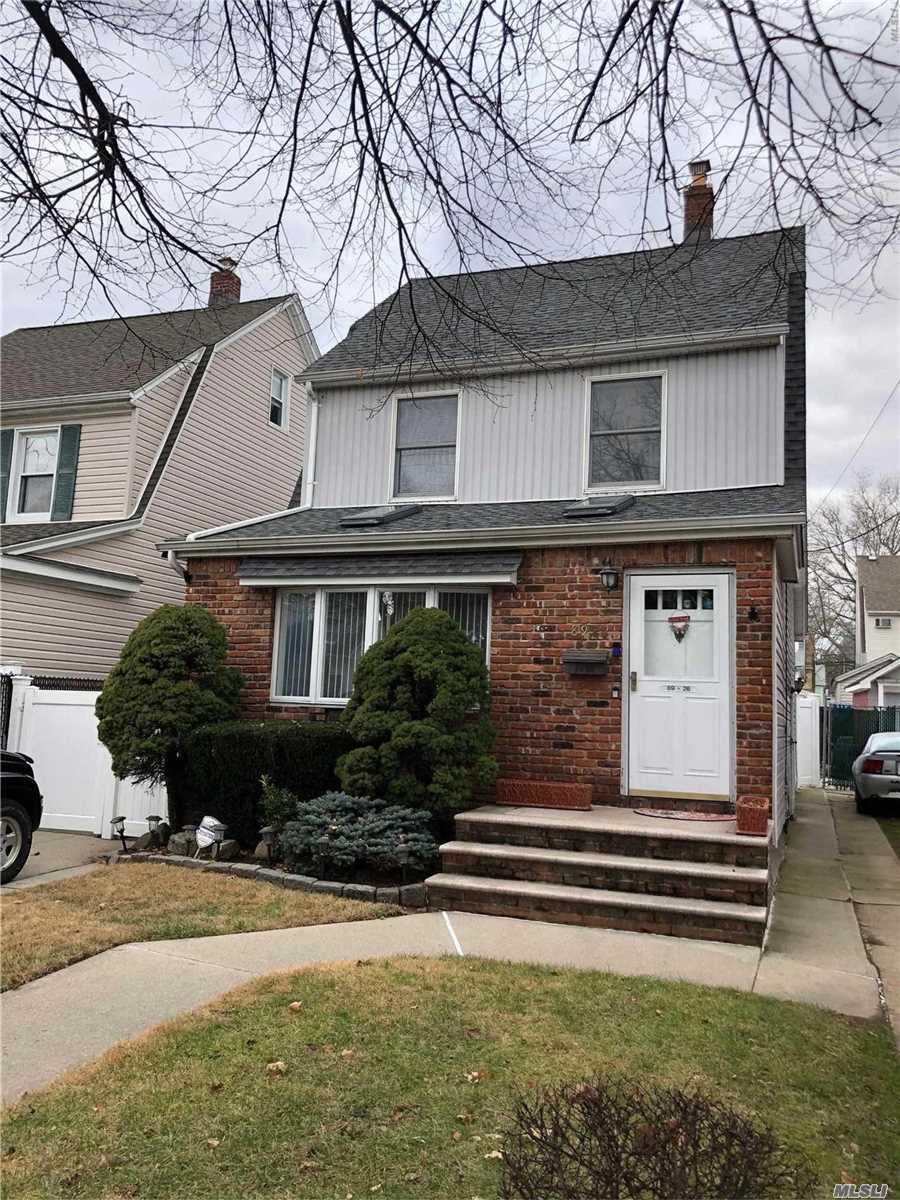 Excellent Lovely One Family Move In Condition One Family House In Bellrose, Convenient To Public Transportation. Must See.