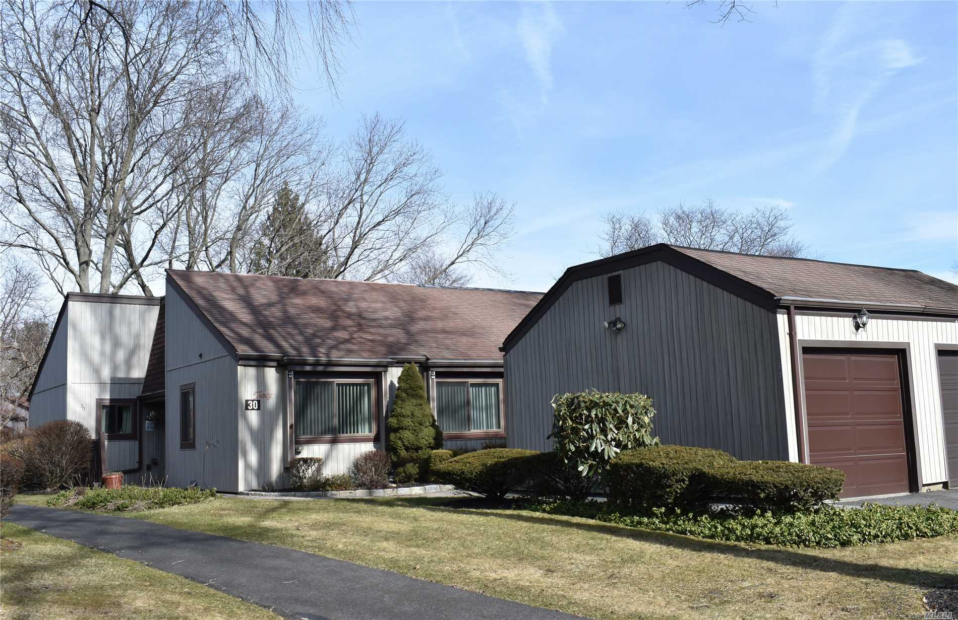 Lovely Spacious Coventry 2 Bdrm End Unit With Garage In Active 55+ Community, Vaulted Ceilings In Lr/Dr, Solar Tubes, Hi Hats In Bathrm, Updated Electric, Attic Insulated To Upgrade Energy Standards, Upgraded Windows In Bdrms And Kit And Newer Sliding Patio Door, Pet Friendly, Close To Shopping & Movies