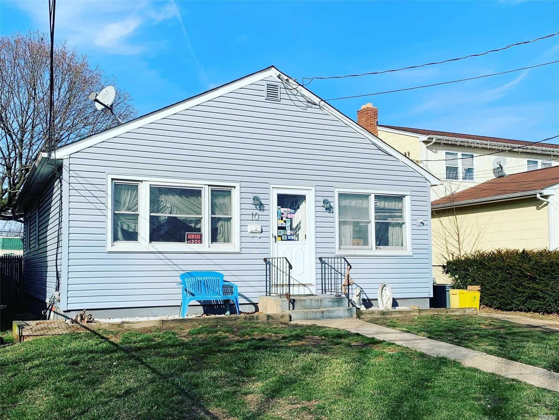 3 Bedroom, 1 Bath Ranch, With Full Finished Basement With Outside Entrance, Very Close Proximity To Hicksville Train Station, Bus Stops, Shopping, And Restaurants.