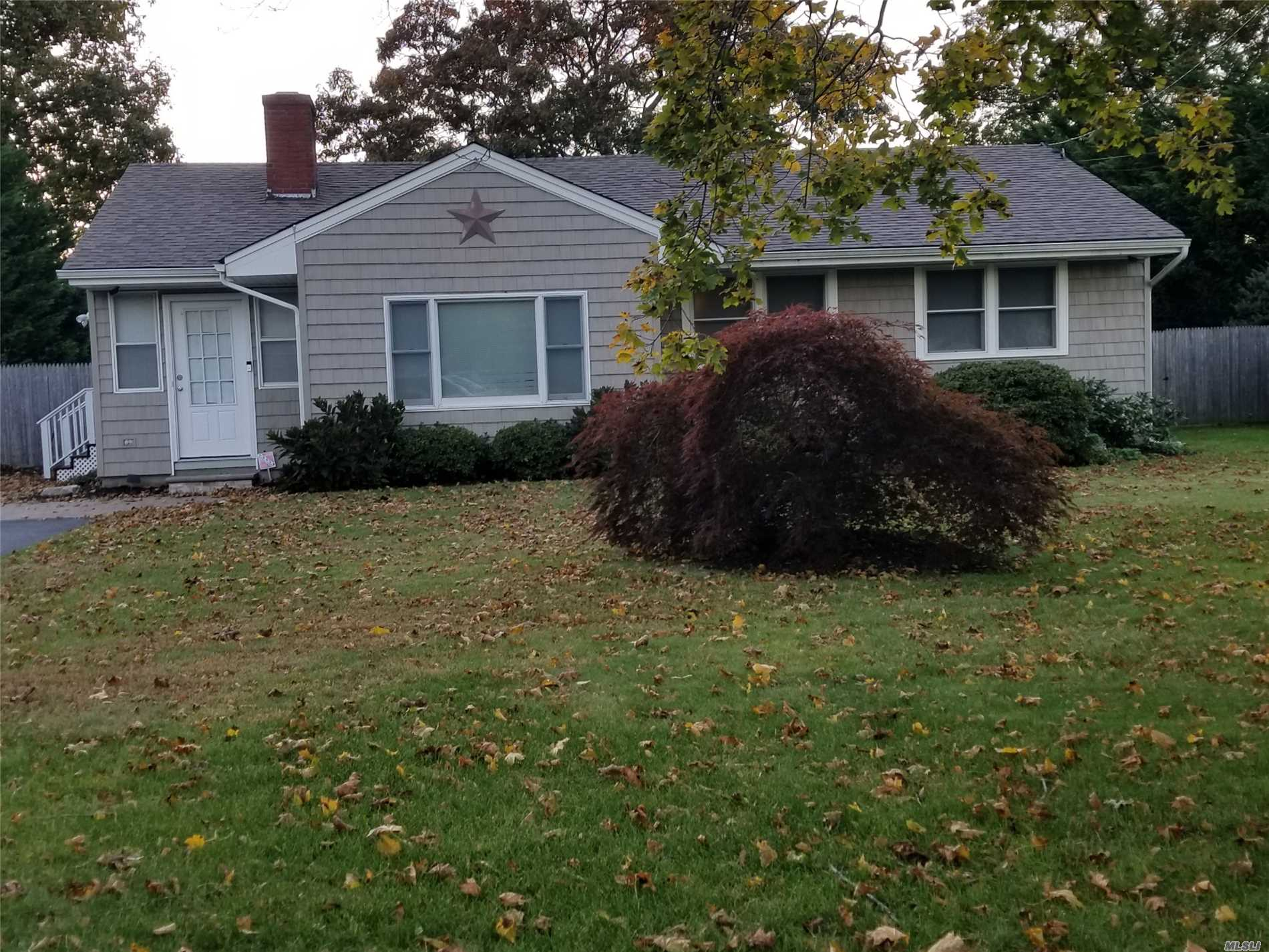 Spacious 3 Bedroom Ranch W/Dinning Rm, Living Rm W/Fp/ Alarm System, Oak Floors, Finished Bsmt, Deck, Patio Gas Fire Pit, Fenced Yard. Excellent Condition. Low Taxes!