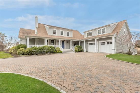 Waterviews and luxury await you in this 5, 000 Sq Ft Beauty 3.3 Acres Estate Section of Quogue.Living Room W/Fplc, Dining Room, Chef's Kitchen With Breakfast Area, Office W/Fireplace, Sun Room W/Radiant Heat Floors, Laundry Room, 1.5 Baths. Master Suite W/spa Tub On The First Floor. Second Floor loft, Bedroom, Family Room W/Balcony, Full Bath, Play Area. Guest Suite w/2 Bdrms, Full Bath&Sep Ent. Gunite pool, 2.5 Car Gar, Workshop/Storage Walkout. Quogue Beach, Low Taxes And Only 90 Min To N Y C
