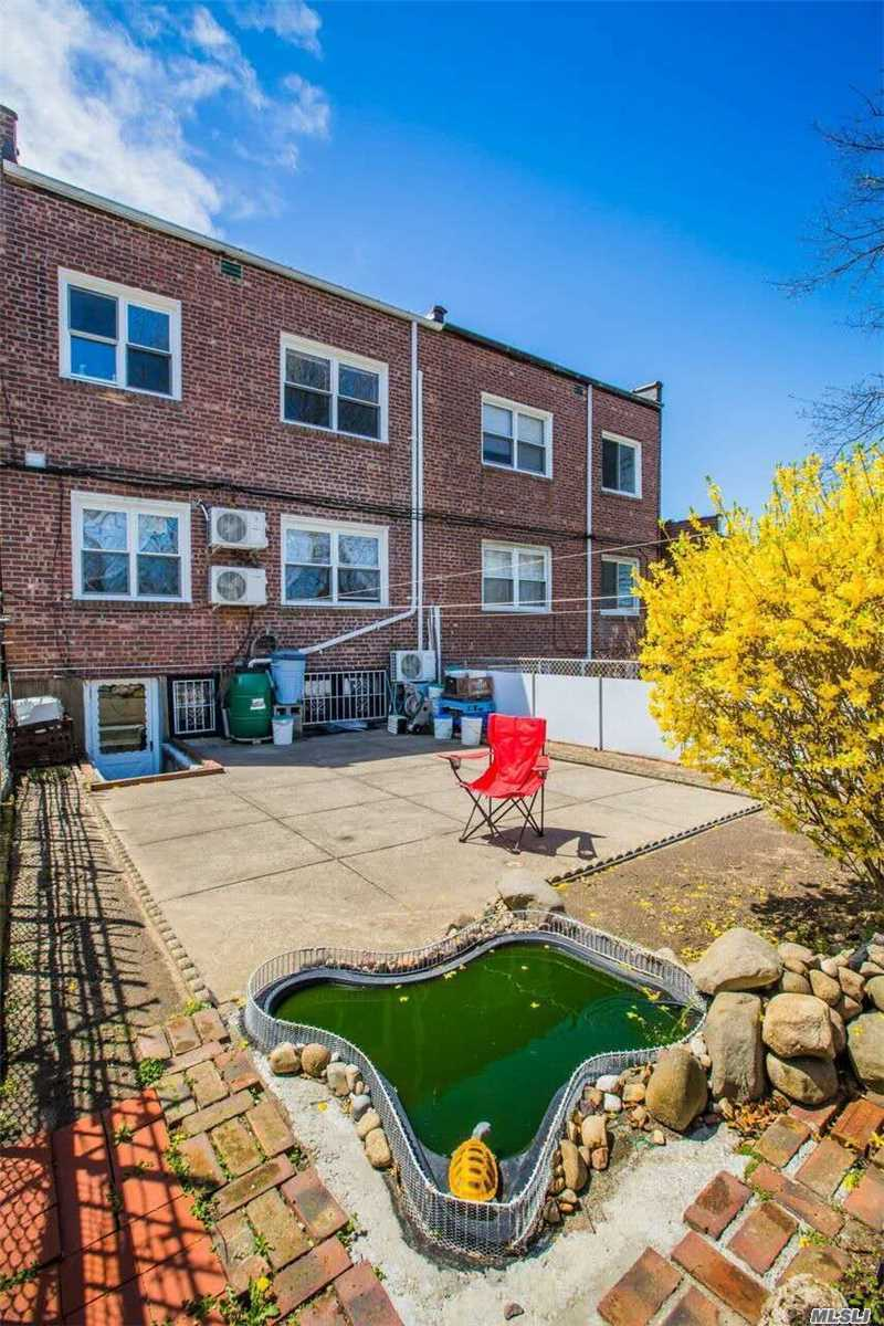 Brick Attached Two Families House In Prestigious Crescent Area. Sunny Bright South Exposure. Close To All (Minutes Away From Supermarket, Stores, And M, R Subway). P.S 144? Jhs190. Excellent Condition. 3Br/2Br/ Walk In Basement W/2 Rm And Recreation Center. Eik Is Complete With Granite Countertops, Hardwood Floors Split Ac System, Each Room With Window