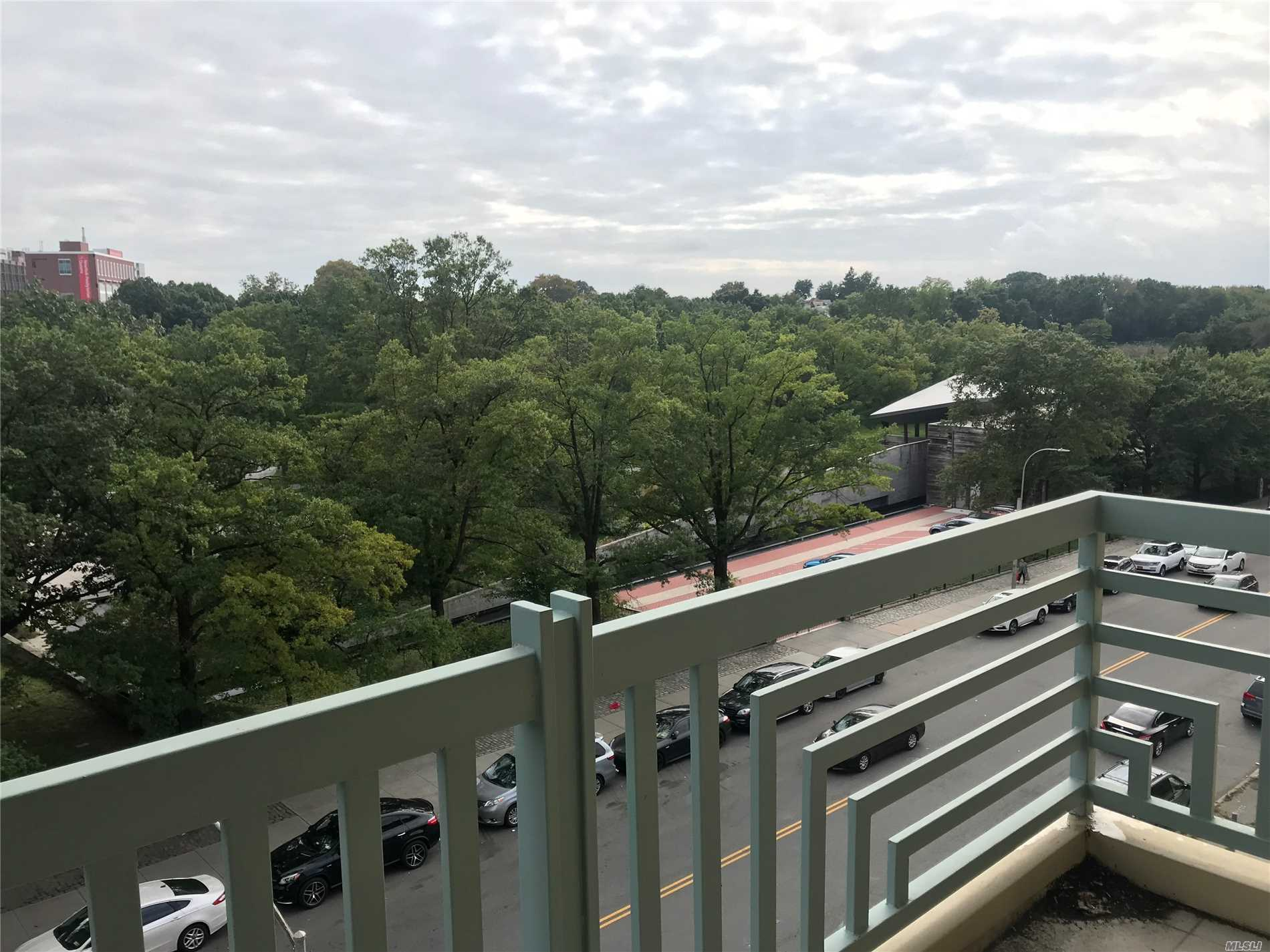 Amazing View To Queens Botanical Garden , Prime Location In Center Of Flushing ! Many Nature Light Thru The Room, Living Room With Big Balcony , 2 Bedrooms With 2 Full Bathrooms , Washer And Dryer , Close To Banks, Restaurants, Stores...Etc.  Nearby Subway , Train, Buses .....Must See....