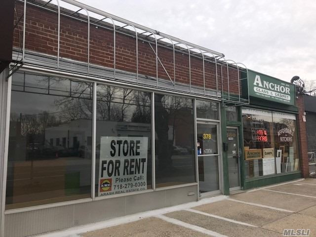 Store Front Office With 1200 Sq Ft. Plus A Finished Basement Space With 700 Sq Ft. Real Estate Tax And Parking (2-3) Included In Rent. Located On A Heavily Traveled Great Neck Rd And Few Minutes Drive To Either Great Neck Or Little Neck Train Stations.