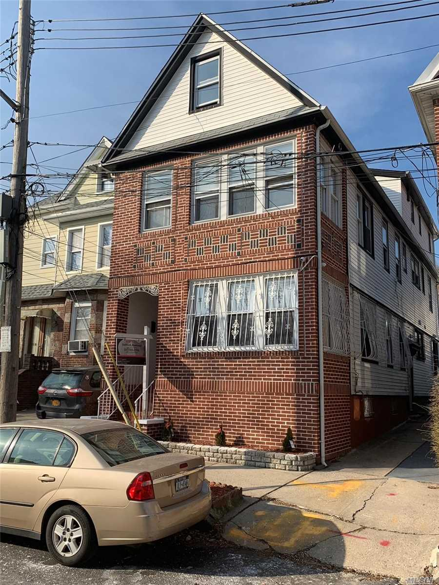 Humongous, Gorgeous, Totally Renovated House.Every Sq.In.Is Redone Beautifully. Crown Moldings, Elaborate Moldings Around Doors, New Appl. H/Wood Fls. Over 4, 500 Sq.Ft. Luxury Space. 1st Fl Use In Conjunction With Basement. 2nd Fl Is In Conjunction With 3rd Fl. 3 Boilers & 2 H/Water Tanks. 1 Block Away From Forest Park - A Wide Array Of Recreational Activities, Including Playgrounds, Bbq Area, Victory Field, Tennis. Owner Very Motivated.