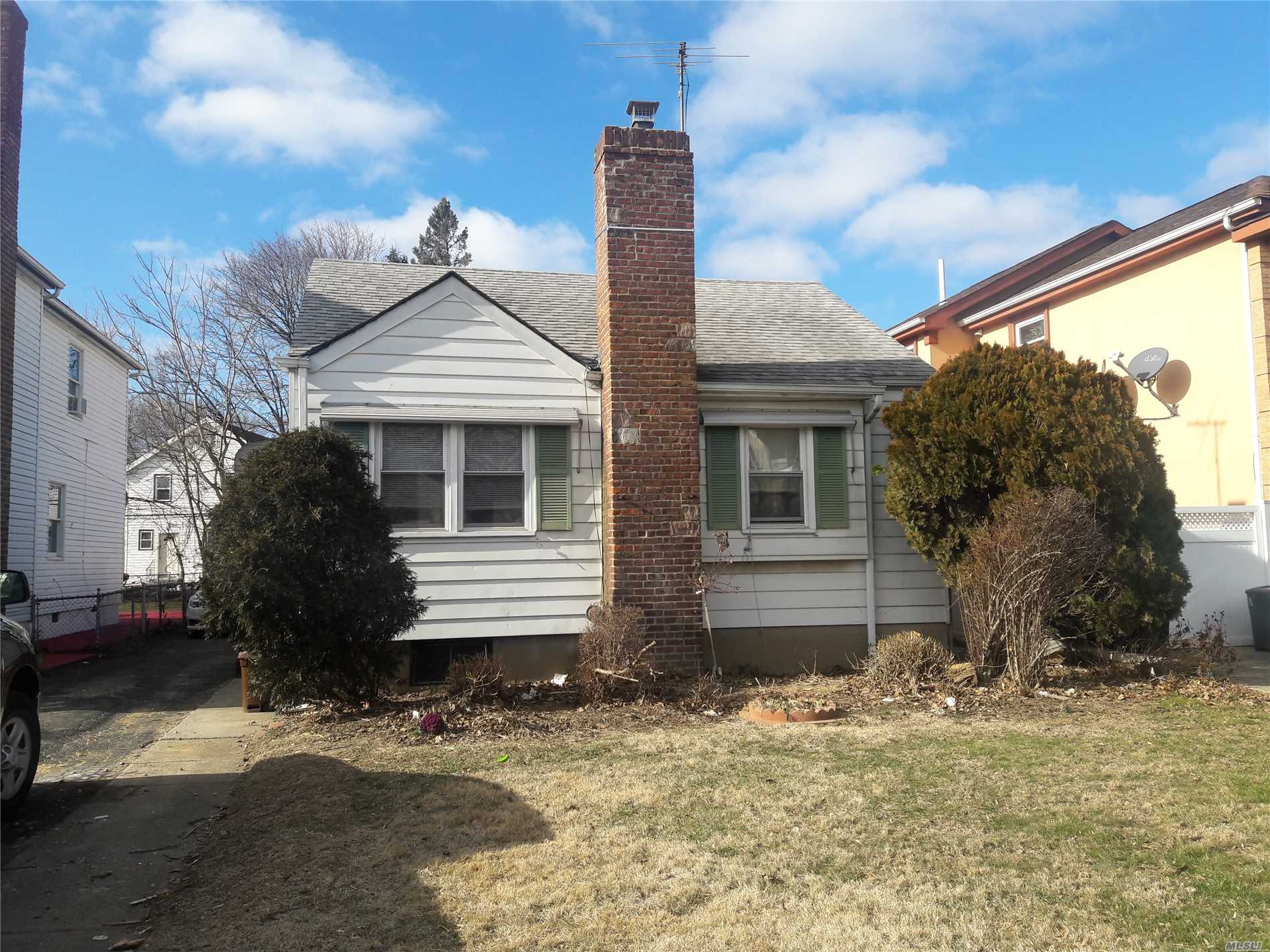 This Home Is A Large Lot. The Zone For This Property R3A And A 2 Family House Is Within The Zone. Great Area. Close To Transportation And Highways. January 21th An Offer Will Be Accepted And Countered.