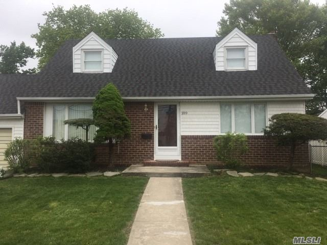 Just Move In To This Freshly Painted, Well Maintained Cape. Updates Include Beautifully Refinished Hardwood Floors. Brand New Roof, Updated Kitchen, Oil Burner And Windows..Brand New Washer And Dryer. Nice Fenced In Yard With Patio. Brand New 200 Amp Service-East Meadow Schools, Mid Block Location.