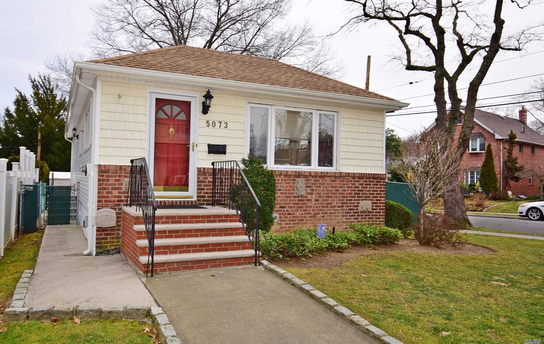 Best Block In Douglaston! Totally Renovated. All New Appliances. New Roof, Gutters And Leaders. New Siding, New Windows, Two New Bathrooms, All New Plumbing, New Gas Fired Hot Air Heating System, New Cac System, New Hot Water Heater, Central Alarm System, Ig Sprinklers Throughout Property.