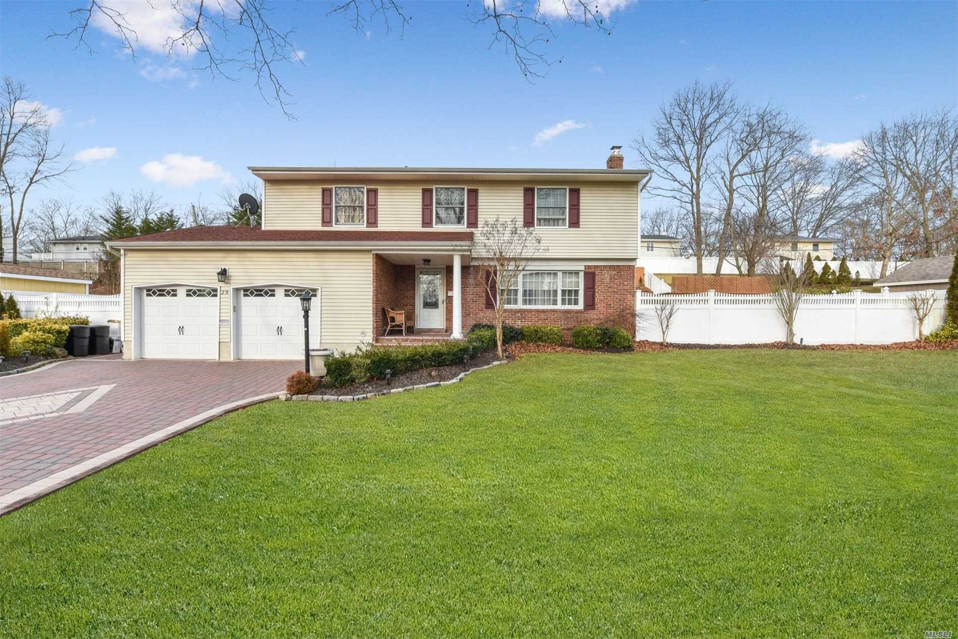Must See! Beautifully Updated 4 Bedroom, 2.5 Bath Colonial With Gourmet Eat-In-Kitchen And Granite Counters. Stunning Backyard Featuring An Above Ground 24' Round Pool With Deck And A Large Patio With Automatic Awning.Automatic Lights Light Up Fabulous Garden