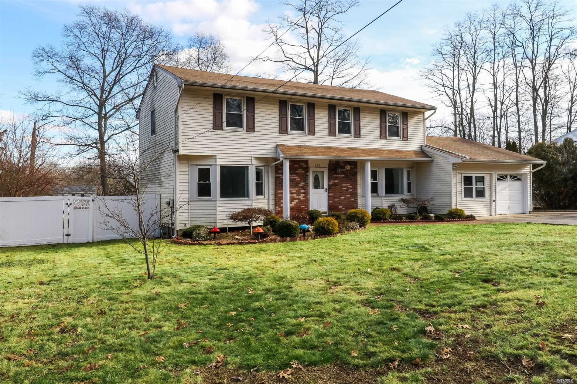 Walk Into This Colonial Style Home On A Tree-Lined Street Situated On A Beautiful, Large Piece Of Property & Call It Home! Warm & Welcoming, This Home Has It All! Generous Sized Bedrooms, Eik & Formal Dining Room, Spacious Living Room, & Den W/ A Wood Burning Fireplace. 2.5 Bathrooms, Partial Basement & Attached Garage W/ Access To The First Floor & An Ig Pool! Bring Your Personal Updates & It's Home Sweet Home!