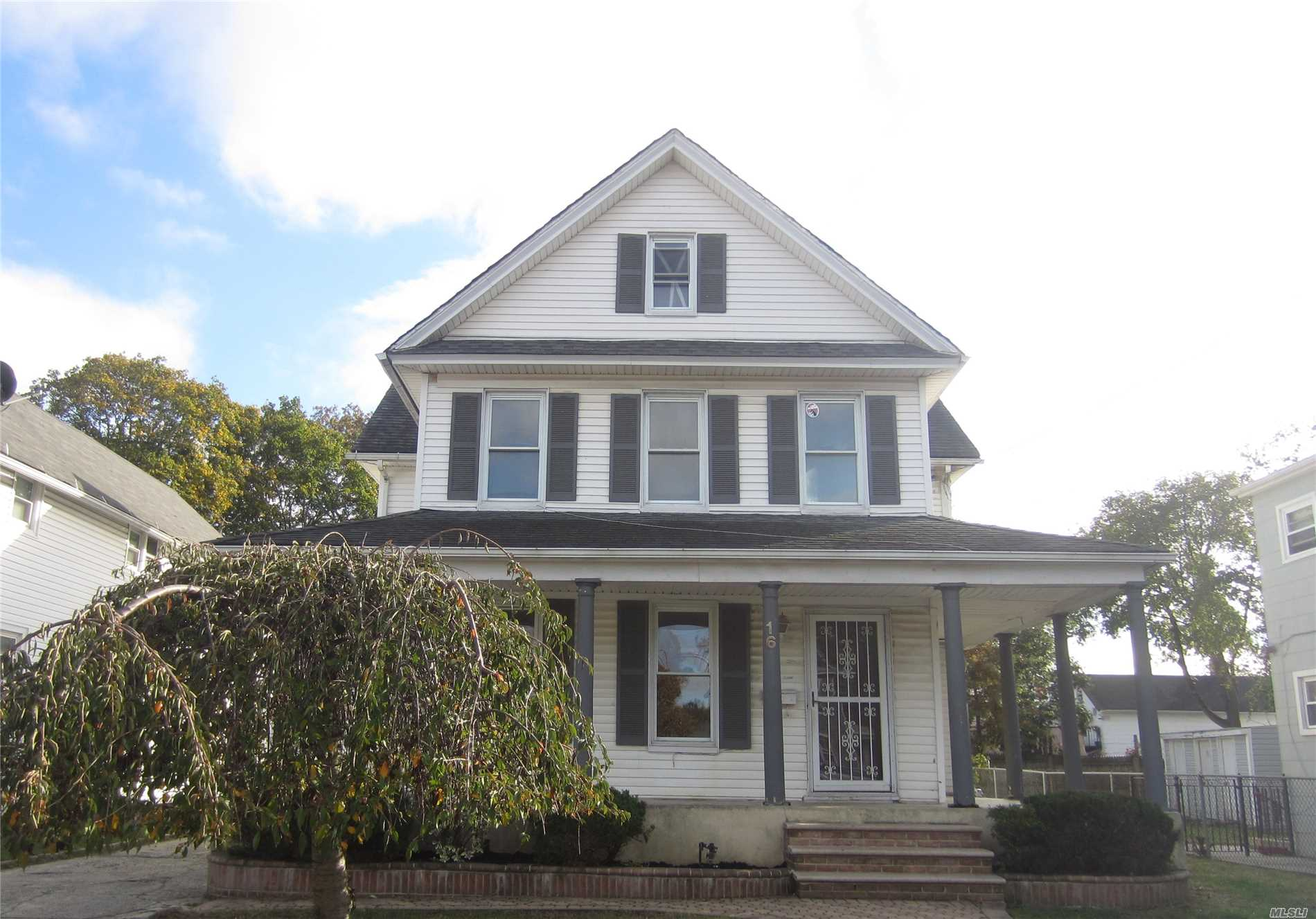 Charming And Spacious, Old Style Colonial, Featuring 5 Bedrooms, 2 Bathrooms, Partial Wrap-Around Porch, 2 Car Garage, Backyard And So Much More! Needs A Little Tlc.