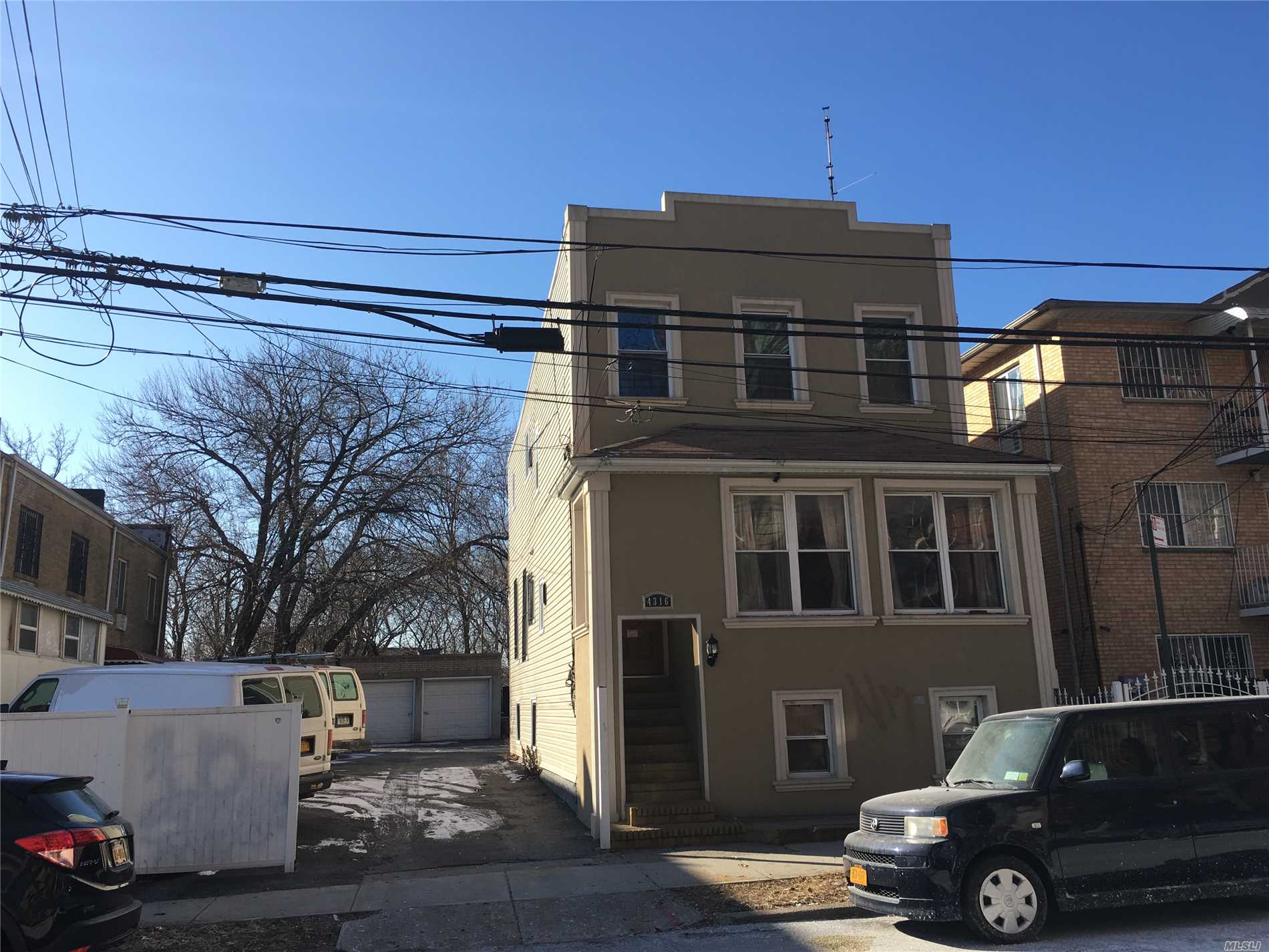 Hot Location, , , Center Of Elmhurst, 2 Det. Legal Family, 3 Car Garage, 10 More Parking Spaces. R5 Zoing, 50X120, Land Value, Can Build Two 3 Family, Minutes To Roosevelt Ave. 74 Street Subway Station,  7, E, F, M, .R, Trains, Everything Is Convenience. Hurry, Won't Last !!!