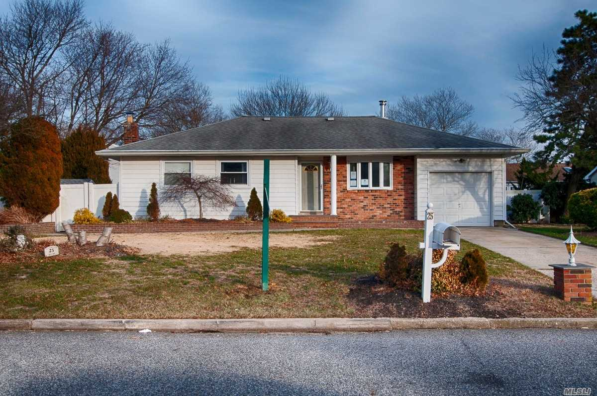 Great First-Time Buyer's Home And Location, Wide Line Ranch Style Home With Cac, Igs, Full Finished Basement With An Ose. Needs Tlc. Bring Your Vision For This Home. Patchogue Medford School District Local To All. 203K Renovation Financing Available Or Cash. Priced Right For The Right Buyer, With A Mid-Block Location. Part Brick And Vinyl Exterior, With Front Porch Rear Trex Decking And Igp, Manicured Landscaping.