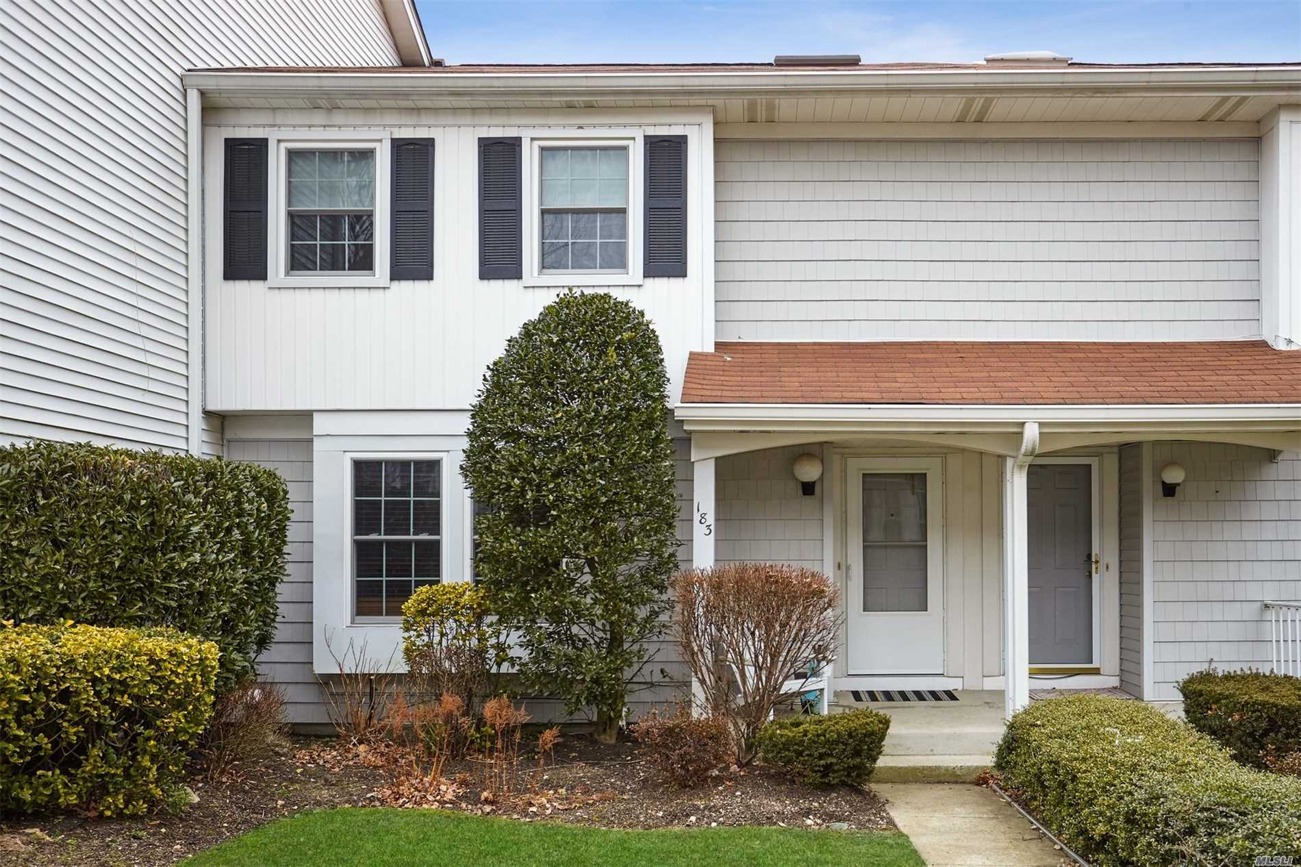 Taxes Grieved! South Facing Open Glade Model With Updated Eik W/Ss App., Granite And Sliders To Deck. O'sized Liv.Room W/Frplc And Moldings. 2 Equal Size Bedrooms And Master W/Huge Wic And Full Bath. Walk Out Finished Basement W/Office, Den, Storage W/ Heat/Ac. Windows Replaced And Most Appliances 2 Yrs Old. Comm. Has Tennis/Pool/Clubhse/Plygrnd. Sale May Be Subject To Term & Conditions Of An Offering Plan.