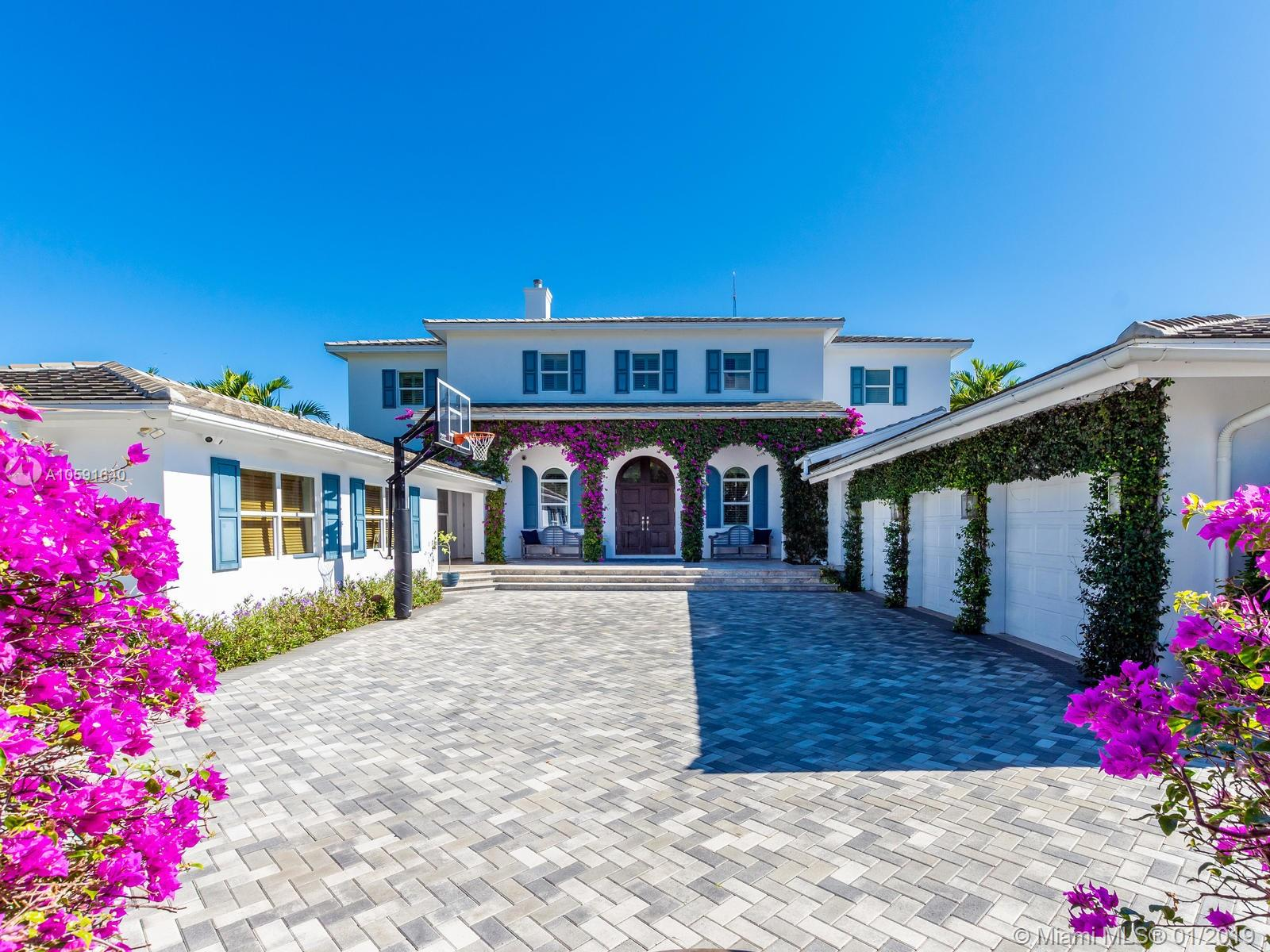 Exudes The Feeling Of Home The Minute You Walk Into This Custom Built Designer British West Indies Style Home Which Boasts 100' Of Intracoastal Waterway, With An 80'X10' Concrete Dock. Complete With 6 Full Bathrooms In Main House And 1 Full Bathroom In Mother In Law Suite. Main House Has 4 Ensuite Bedrooms, An Office Off Of The Kitchen And Mudroom. The 4Th Bedroom Has 2 Bathrooms, The Bunk Room, Is 28'11 X 15' A Total Of 421.65 Sqft Designed To Be Converted Into Two Bedrooms If Needed. A Wood Burning Fireplace In The Upstairs Family Room. Custom Built-Ins. Open Floor Plan To Maximize The Intracoastal Waterway Views. Truly A Unique Home With Top Of The Line Kitchen And Finishes Throughout In The Most Sought Out Community In All Of Fort Lauderdale, Sunrise Intracoastal.