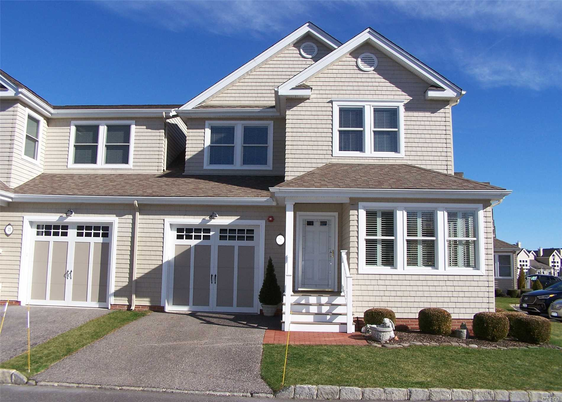 Beautiful 55+Active Community (Completed) This Corner Unit Features Many Bells And Whistle (See Attach) Bright and Open With Lr/Dr 2 Story Volume Ceilings, Trex Deck With View Of Community Pool And Pond. Anderson Windows With Plantation Shutter & Slider, French Doors, Loft Overlooking Living, Hardwood, Full Basement (Storage) Convenient To Beach And Easy Commute