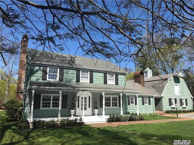 Unique Waterfront Home With Over 5500-Ft Living Space With Panoramic Views Located On Plandome Manor's Leeds Pond. Five Bedroom, 4.5 Bath, Country Kitchen And Connected Finished Barn. Private, Country-Style Living On .85 Acre Near Country Club And Three-Minute Stroll To Lirr 30-35 Minute Train To Nyc.