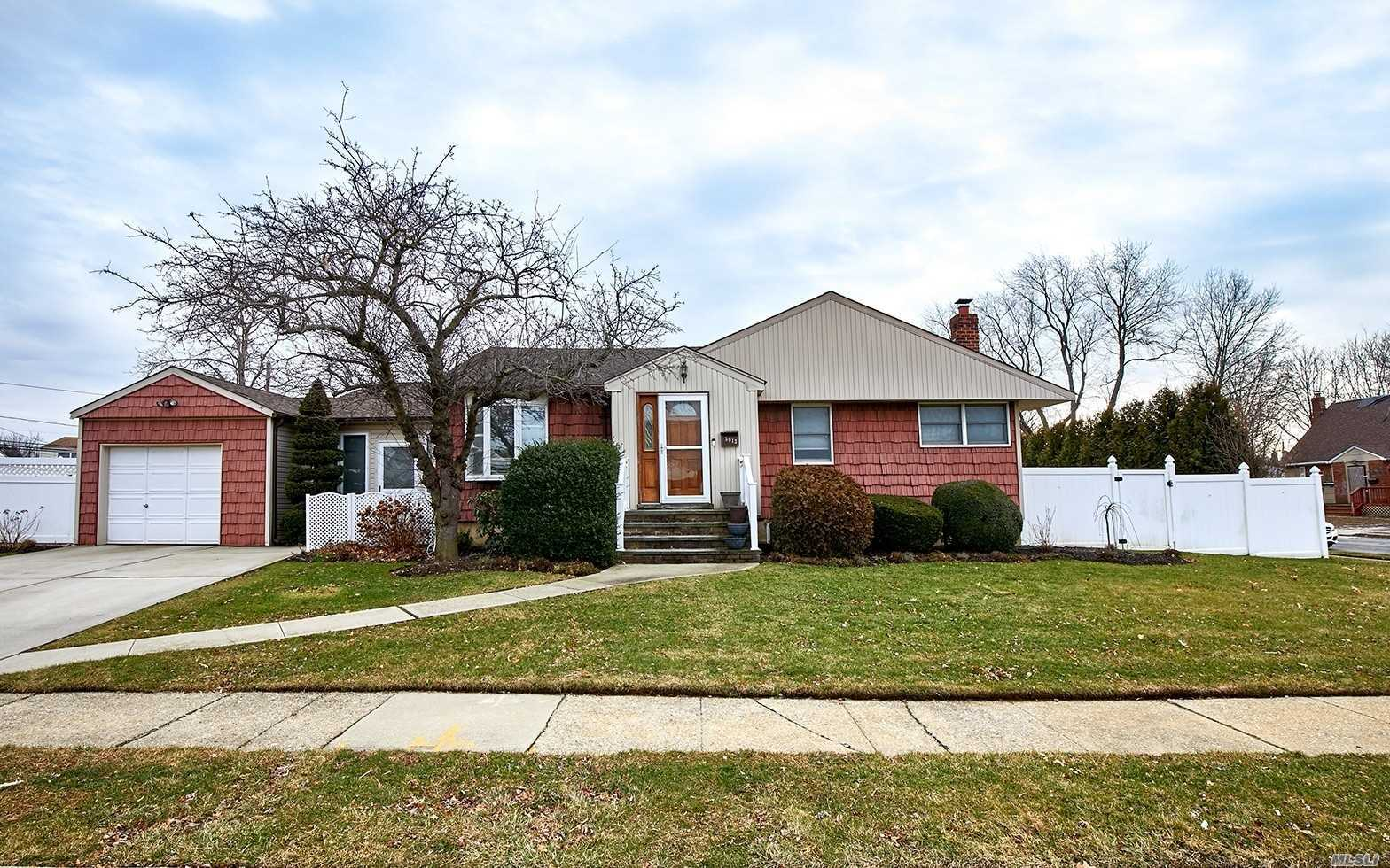 Stylish & Updated, This Expanded Ranch Boasts Oversized, Granite & Stainless Eat In Kitchen W/A Highly Functional Pantry, Liv Rm, 3 Bdrms, Dining Rm & 2 Sep Mudrms. Also Features A Finished Bsmt W/A 2nd Bath That Is Permitted. Office, Family Rom, Playrm & Laundry Rm. Oversized Yard Is An Entertainers Paradise W/A Heated Inground Pool, Paver Patio, Deck & Privacy Landscaping. Additional Amenities: Hardwood Floors, In Ground Sprinklers, New Cac Unit, Att Garage W/Entrance To House & Pvt Driveway