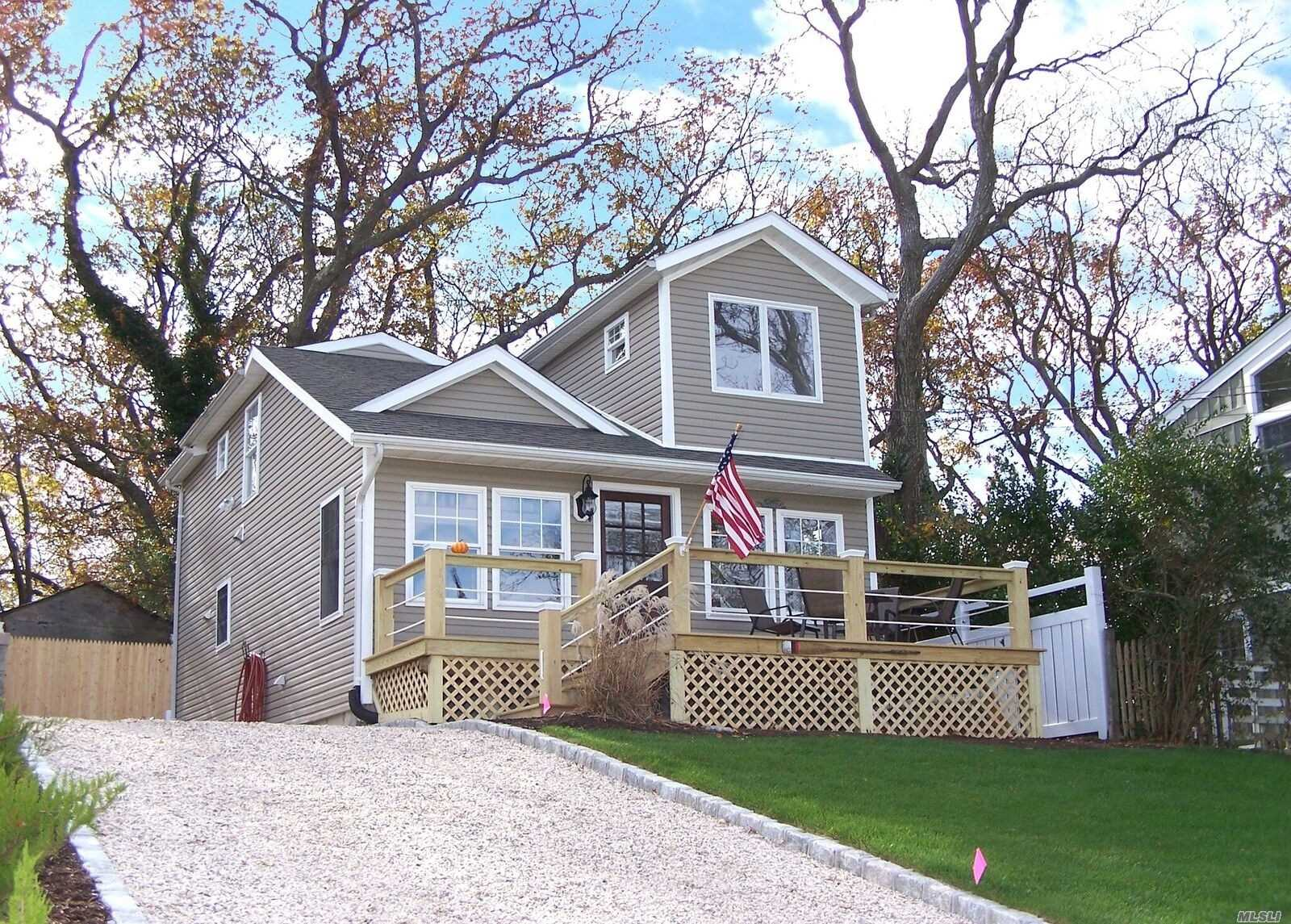 Gorgeous Water View Home Overlooking Li Sound! This Stunning Newly Renovated 2 Bed 2 Bath Offers An Open Floor Plan Allowing Water Views From Anywhere In The House Including A Loft Overlooking The Living Room! Hardwood Floors, New Kitchen With Shaker Cabinets, Ss Appliances And Granite Counter Tops. Elegant Touches Bring Comfort And Charm As You Move To The Deck Out Front To Enjoy The Water And Truly Serene Environment! Private Beach Rights And Low Taxes! A Rare Opportunity And A Must See!