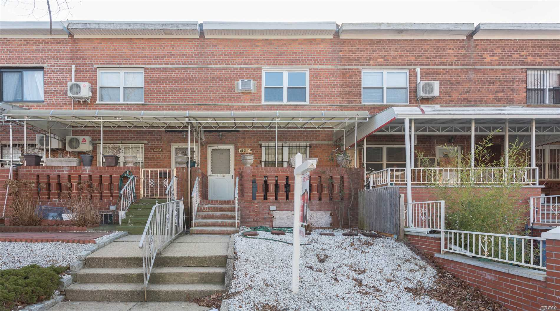 Location, Location, Location! Attached 2 Bedroom, 1 Bath Colonial In Absolute Prime Flushing. Freshly Painted With Beautiful Hardwood Floors. Just Minutes From Kissena Park. Conveniently Located Near Shopping, Schools, Restaurants, House Of Worship, And More! Hot Listing, Will Not Last!