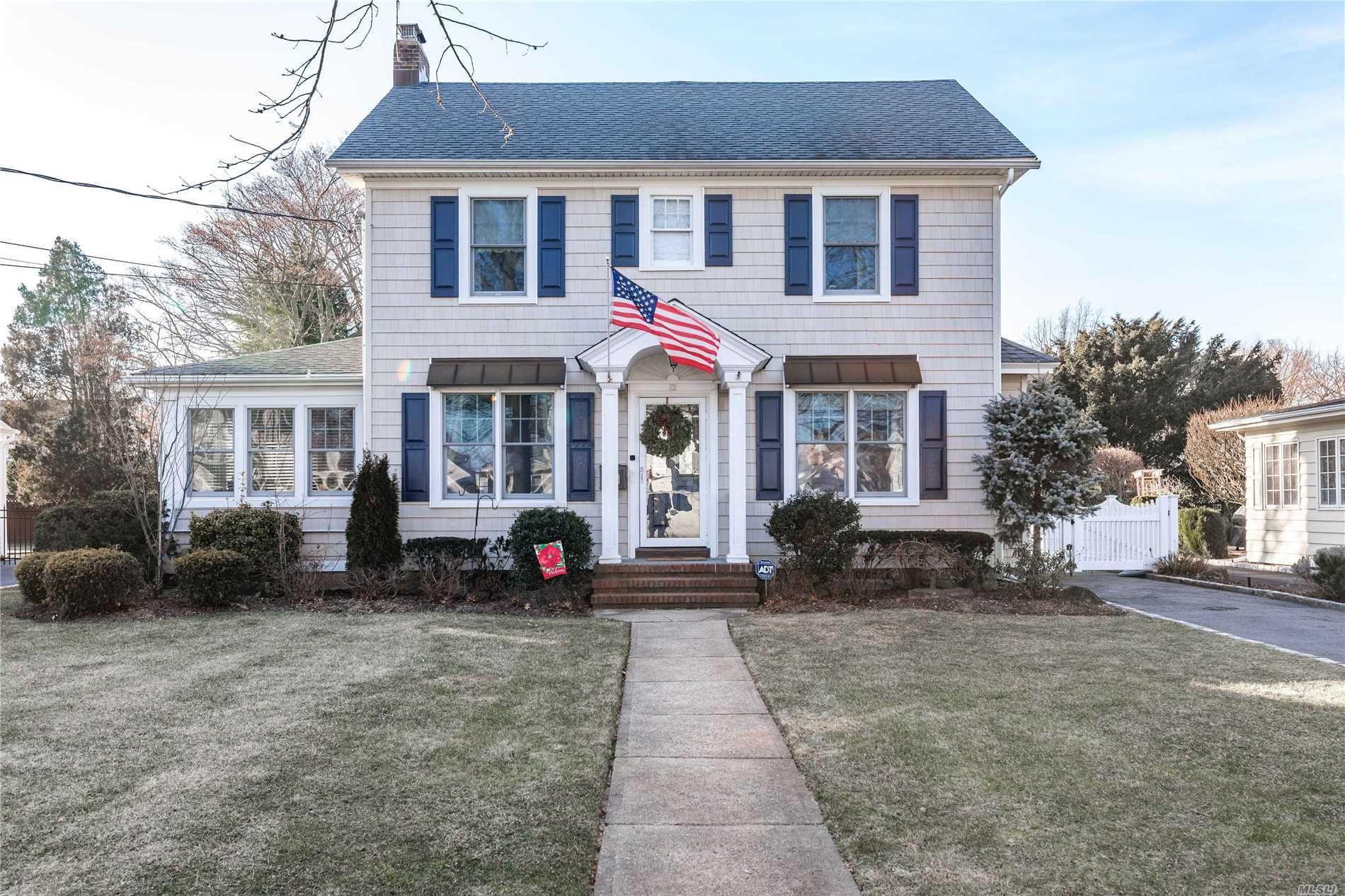 Welcome Home To This 4 Bedroom Colonial In The Heart Of The Village.1st Floor Features Living Room W/ Fireplace, Formal Dr, Large Eat In Kitchen Overlooking The Serene Pool Sized Property, Spacious Great Rm, Office & Full Bath. 2nd Floor Offers Mbr W/ Wic & Bath, And 3 Additional Bedrooms, Fb & 2nd Fl. Laundry Rm. A Huge Full Finished Basement Completes This Home