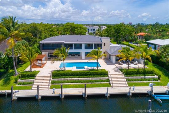 Spectacular Waterfront Home In Guard Gated Old Cutler Bay. Completely Remodeled Home Has Mia Cucina Kitchen, Wolf Appliances, Speakers In/Out, Impressive Glass Encased Wine Cellar W/ Cooler & Bar For Ultimate Home Entertaining. Master Suite W/Balcony & 4 Bedrooms With Walking Closets And A Studying Area On 2Nd Flr, Maid'S Qtrs. On 1St Flr. Off Laundry Room. Spacious Open & Flexible Floor Plan W/2 Family Rooms, Living Room And Dining Room. Pool/Spa W/Tanning Deck Overlooks Wide Canal With No Bridges To Bay! Dock W/Lift And 140Ft Of Waterfrontage.