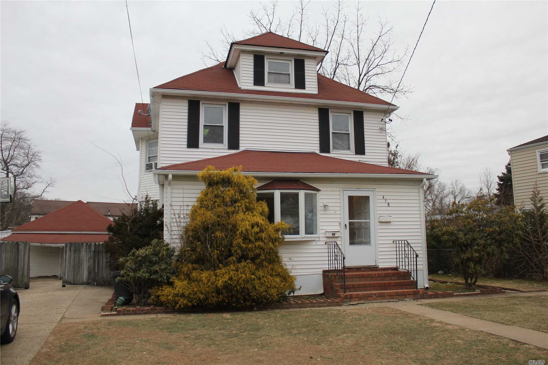 Apartment Was Redone With Fresh New Paint, New Windows, New Carpet, New Appliances, Including New Washer & Dryer In Basement Private Two Car Driveway Large Deck In Back. On A Nice Quit Street Close To All.