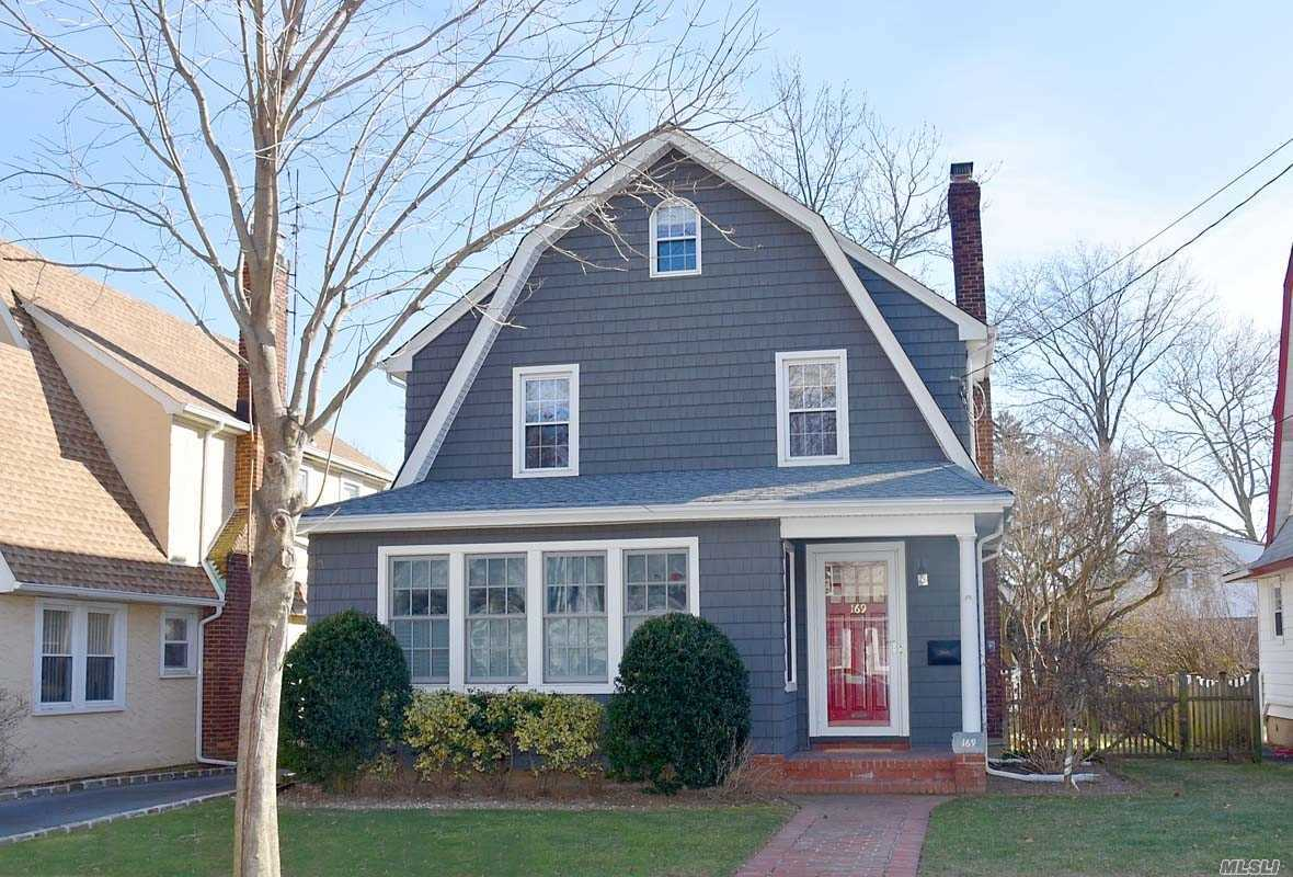 Stunning Colonial In The Heart Of Beautiful Floral Park Village. 3 Bedrooms, 2.5 Bath,  Full Finished Attic, Sun Drenched Living Room W/Gas Fireplace, Formal Dining Room, Family Room/Office, Large Eik With Stainless Steel Appliances, Skylight And Sliders To A Large Deck And Patio. Cac, 200Amps , New Roof And Siding. Close To Lirr.